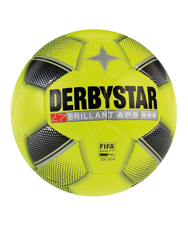 Derbystar Brillant APS Spielball Gelb Schwarz F529 - gelb