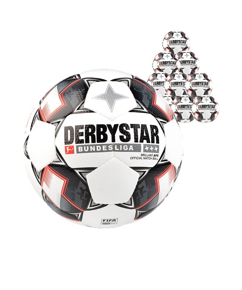 Derbystar Bundesliga Brillant APS 10xFussball Weiss F123 - weiss