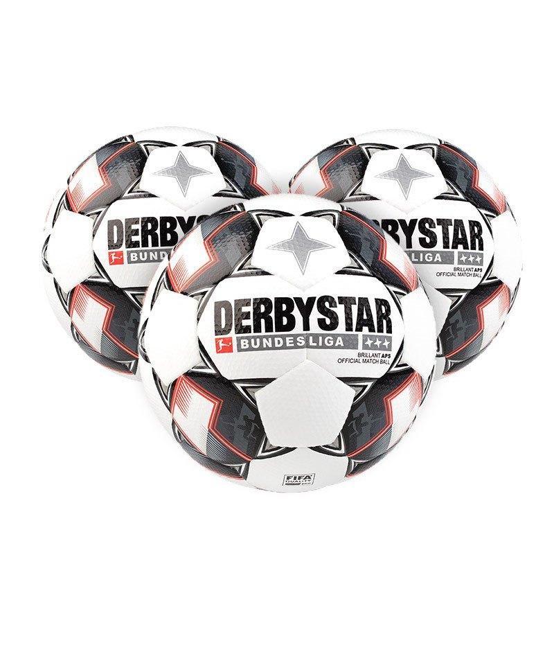 Derbystar Bundesliga Brillant APS 3xFussball Weiss F123 - weiss