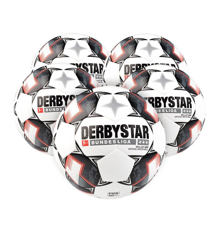 Derbystar Bundesliga Brillant APS 5xFussball Weiss F123 - weiss