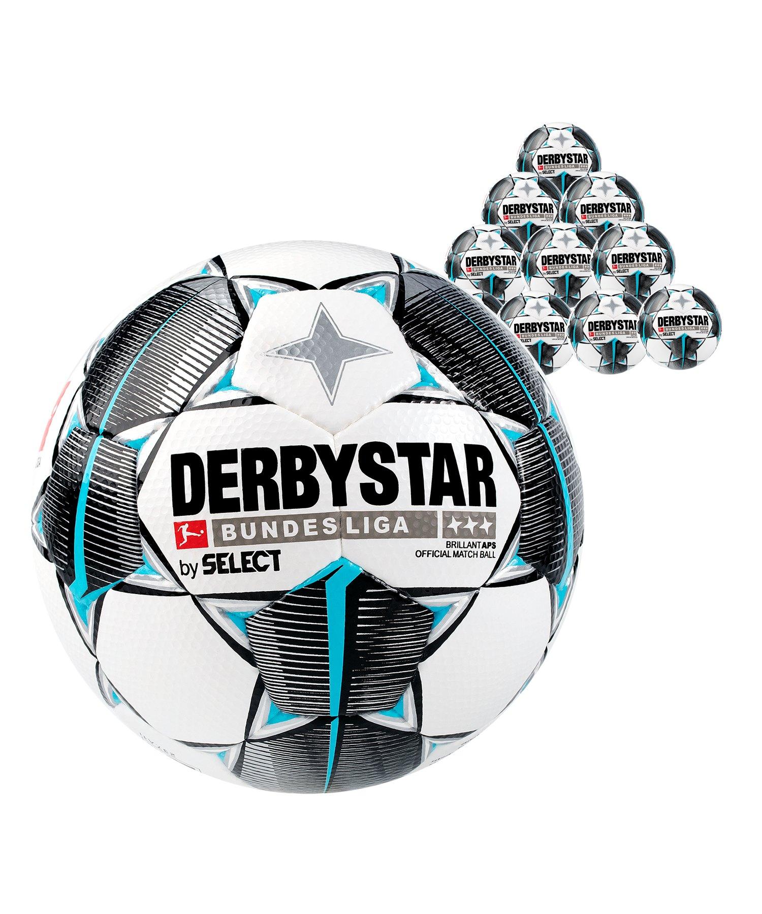 Derbystar Buli Bril APS Spielball 10x Gr.5 Weiss F019 - weiss