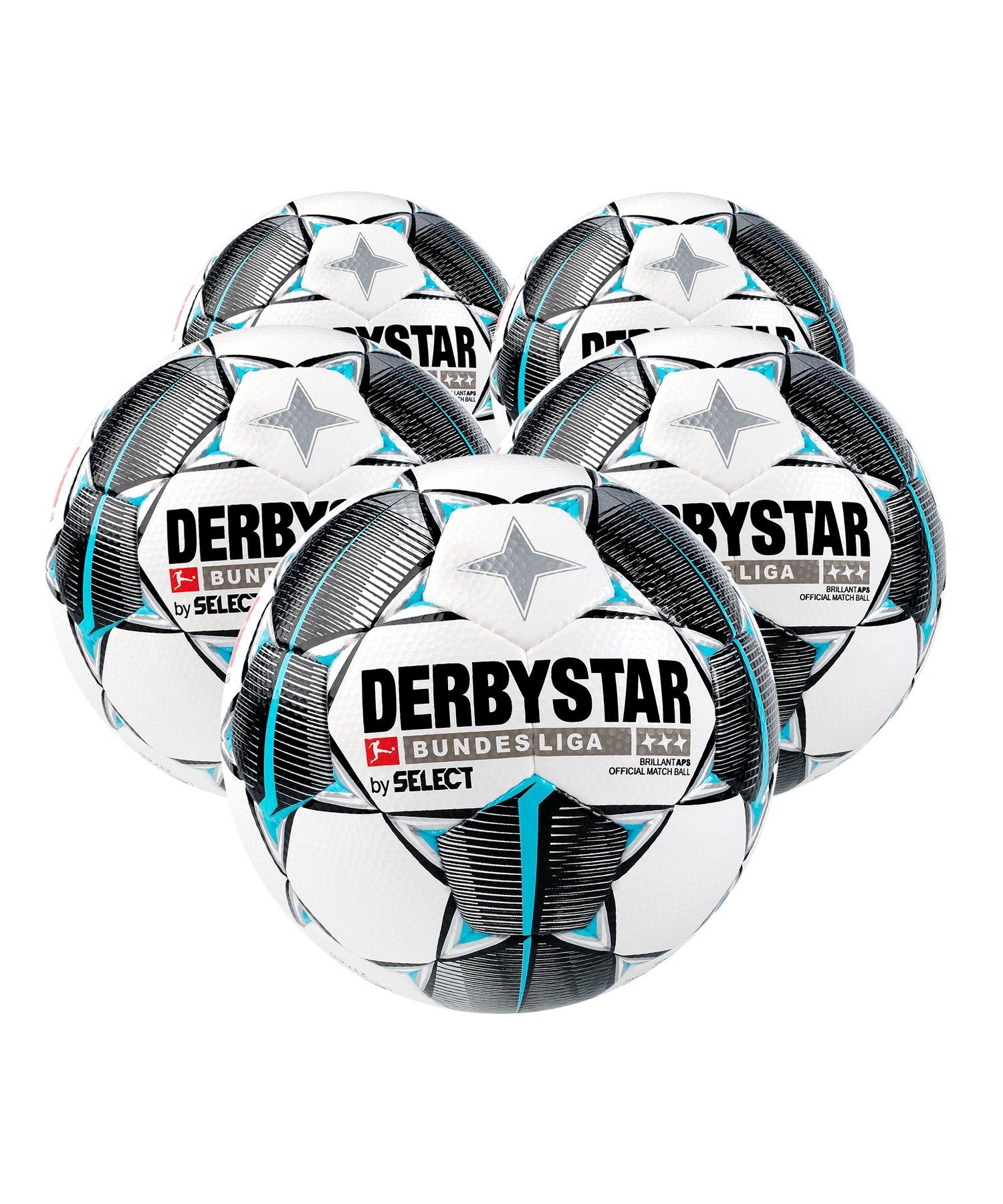 Derbystar Buli Bril APS Spielball 5x Gr.5 Weiss F019 - weiss