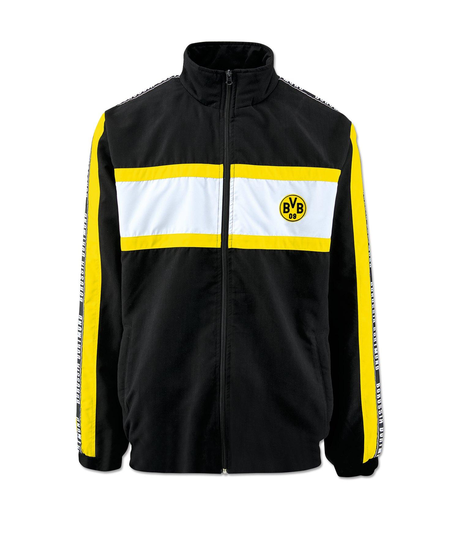 BVB Borussia Dortmund Streetwear Jacke Schwarz - schwarz