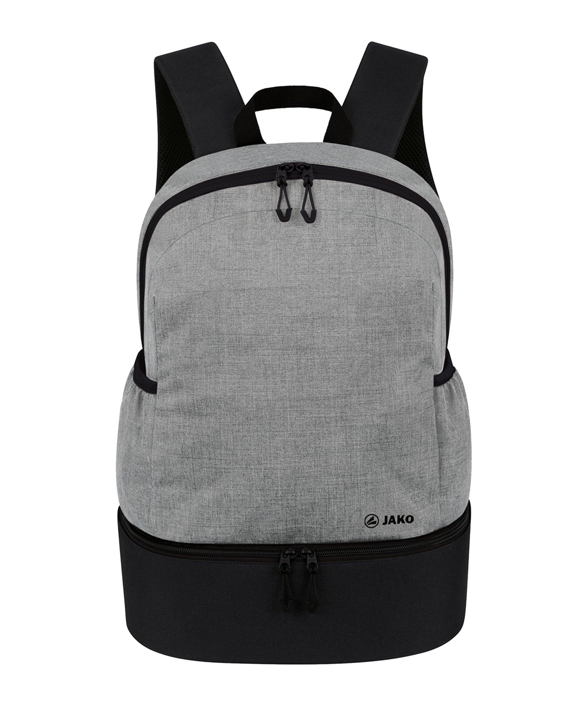 JAKO Challenge Rucksack mit Bodenfach Grau F520 - grau