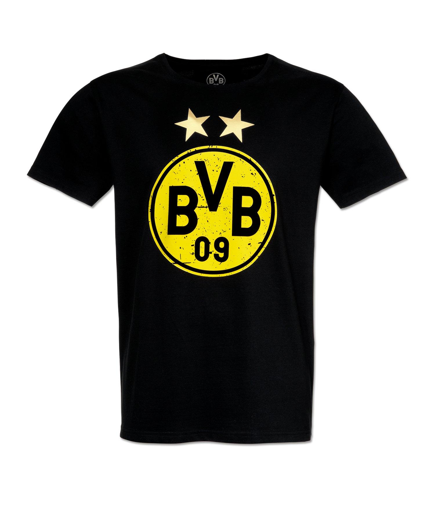 BVB Borussia Dortmund Logo T-Shirt Kids Schwarz - schwarz