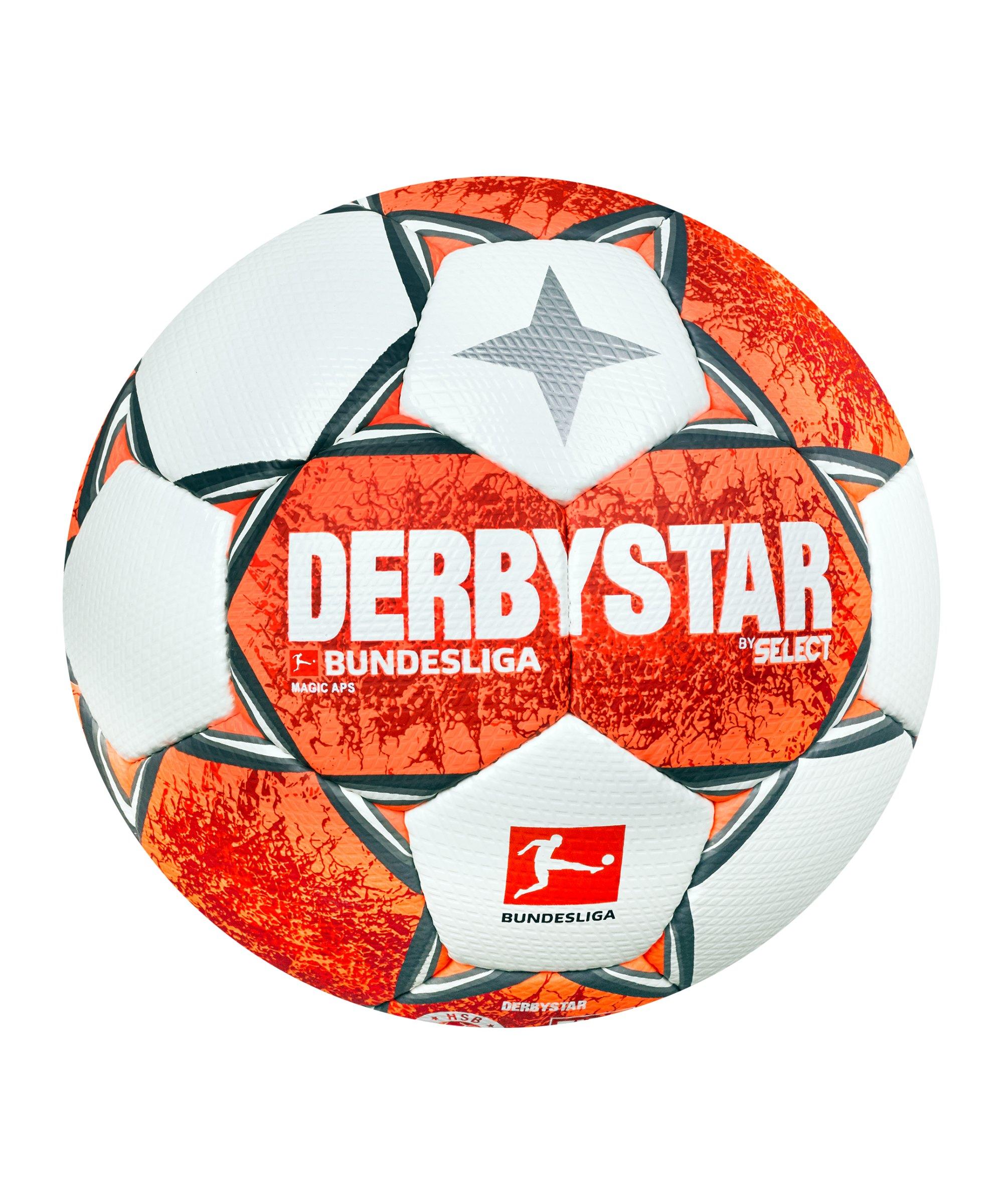 Derbystar Bundesliga Magic APS v21 Spielball 2021/2022 Orange Grau Weiss F021 - orange
