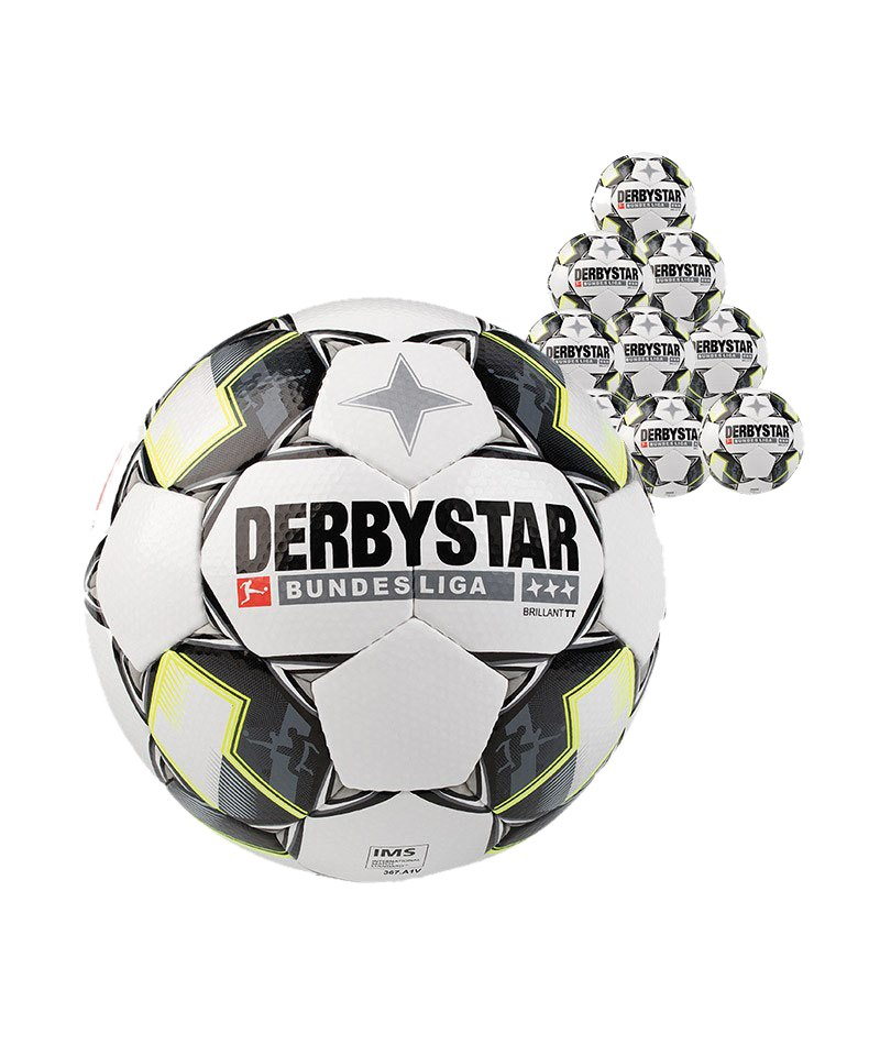 Derbystar Bundesliga Brillant TT 50xFussball F125 - weiss