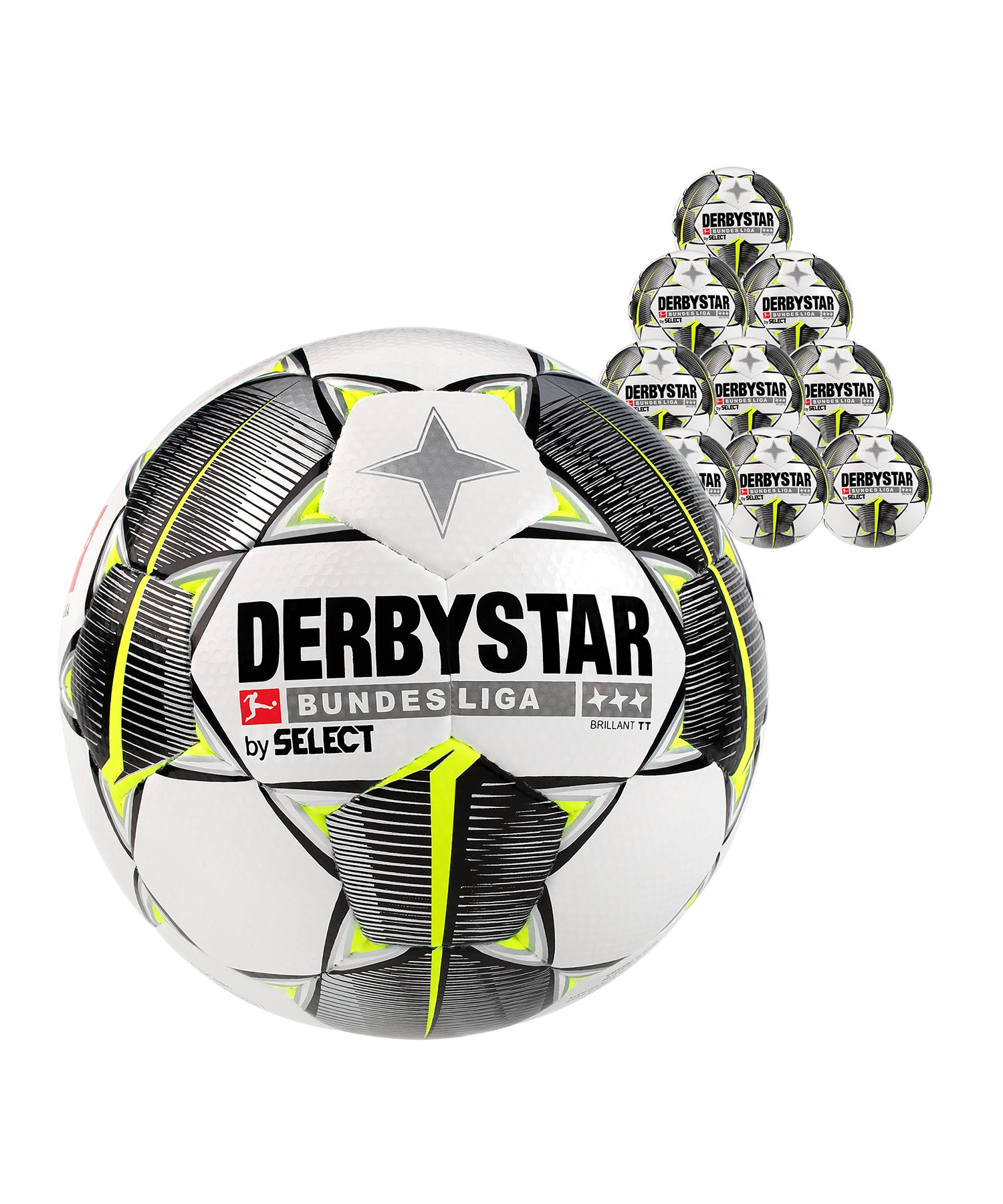 Derbystar Buli Bril TT HS Trainingsball 50x Gr.5 Weiss F19 - weiss