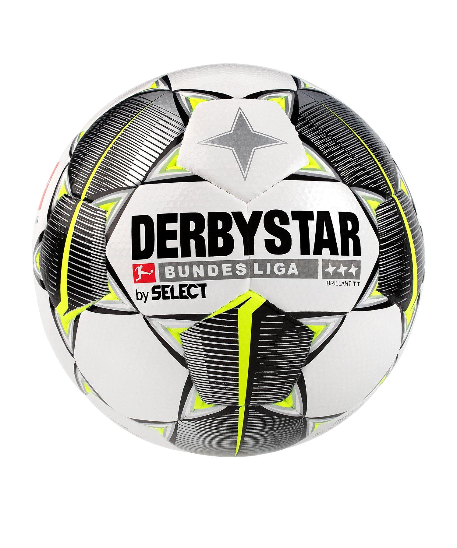 Derbystar Bundesliga Brillant TT HS Trainingsball Weiss F019 - weiss