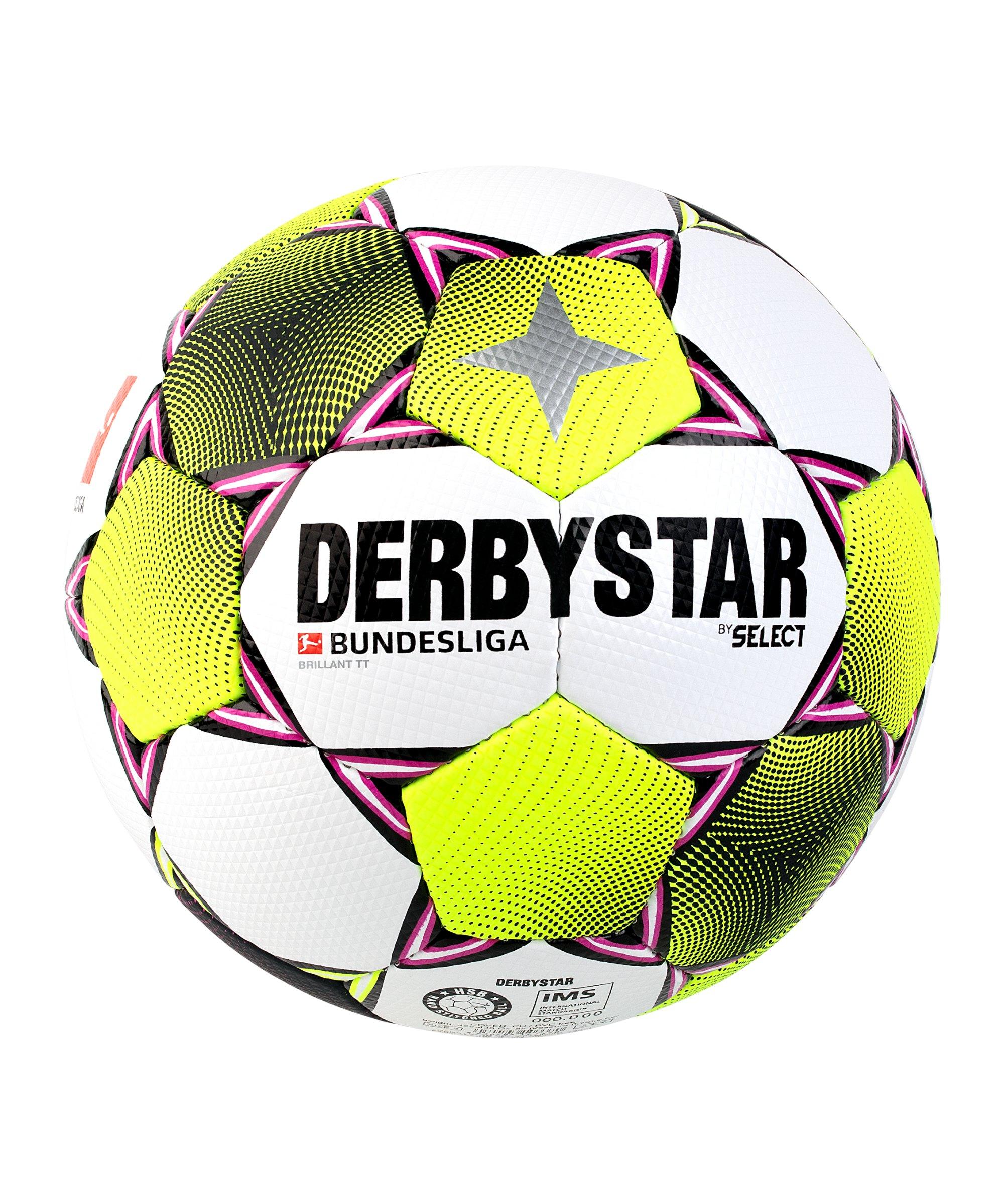 Derbystar Bundesliga Brillant TT Trainingsball Weiss F020 - weiss