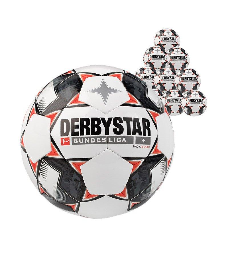Derbystar Bundesliga Magic 10xS-Lightball 290 Gramm Gr. 4 Weiss F123 - weiss