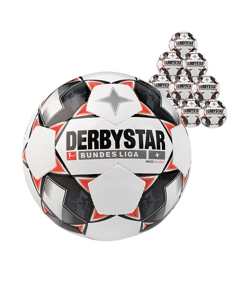 Derbystar Bundesliga Magic 10xS-Lightball 290 Gramm Gr. 5 Weiss F123 - weiss