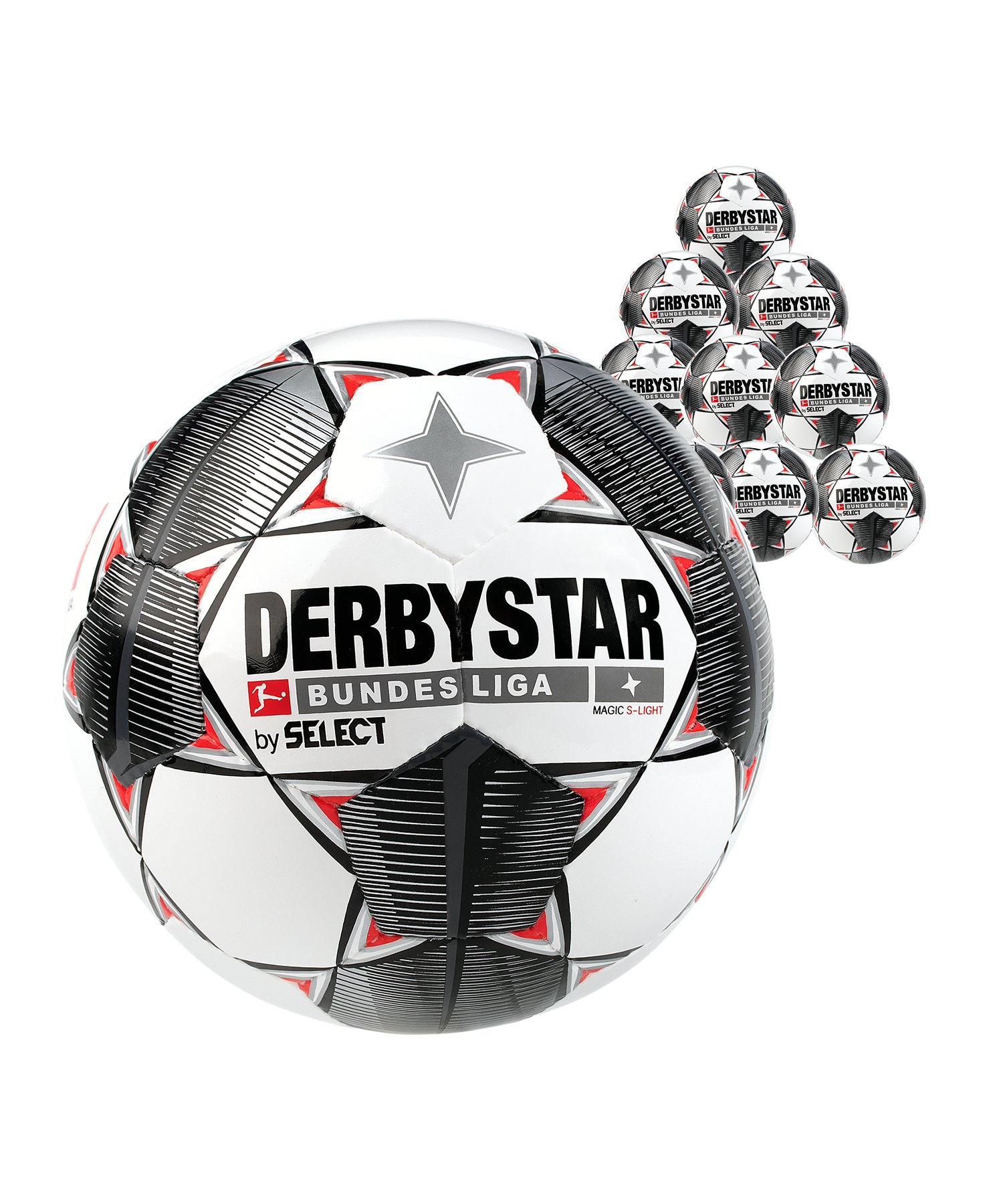 Derbystar Buli Magic S-Light 290g 10x Gr.4 Weiss F019 - weiss