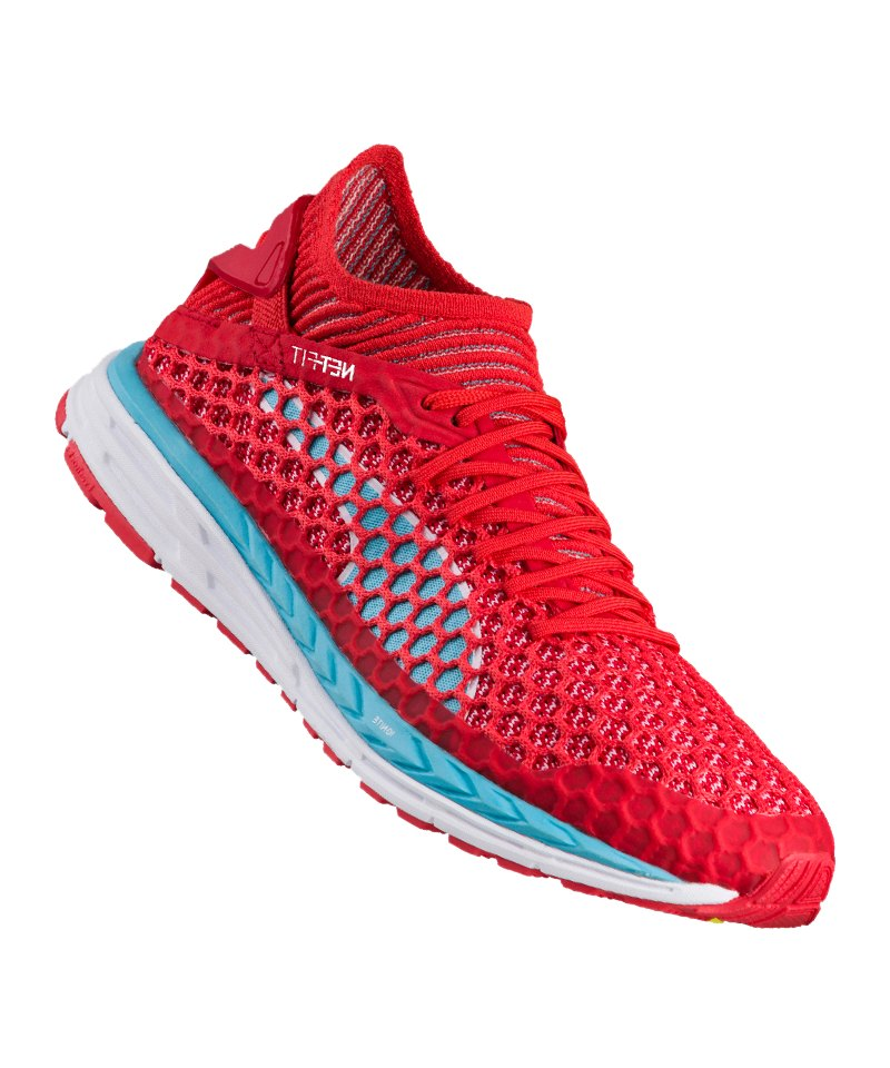 PUMA Speed Ignite Netfit Running Damen Rot F02 - rot