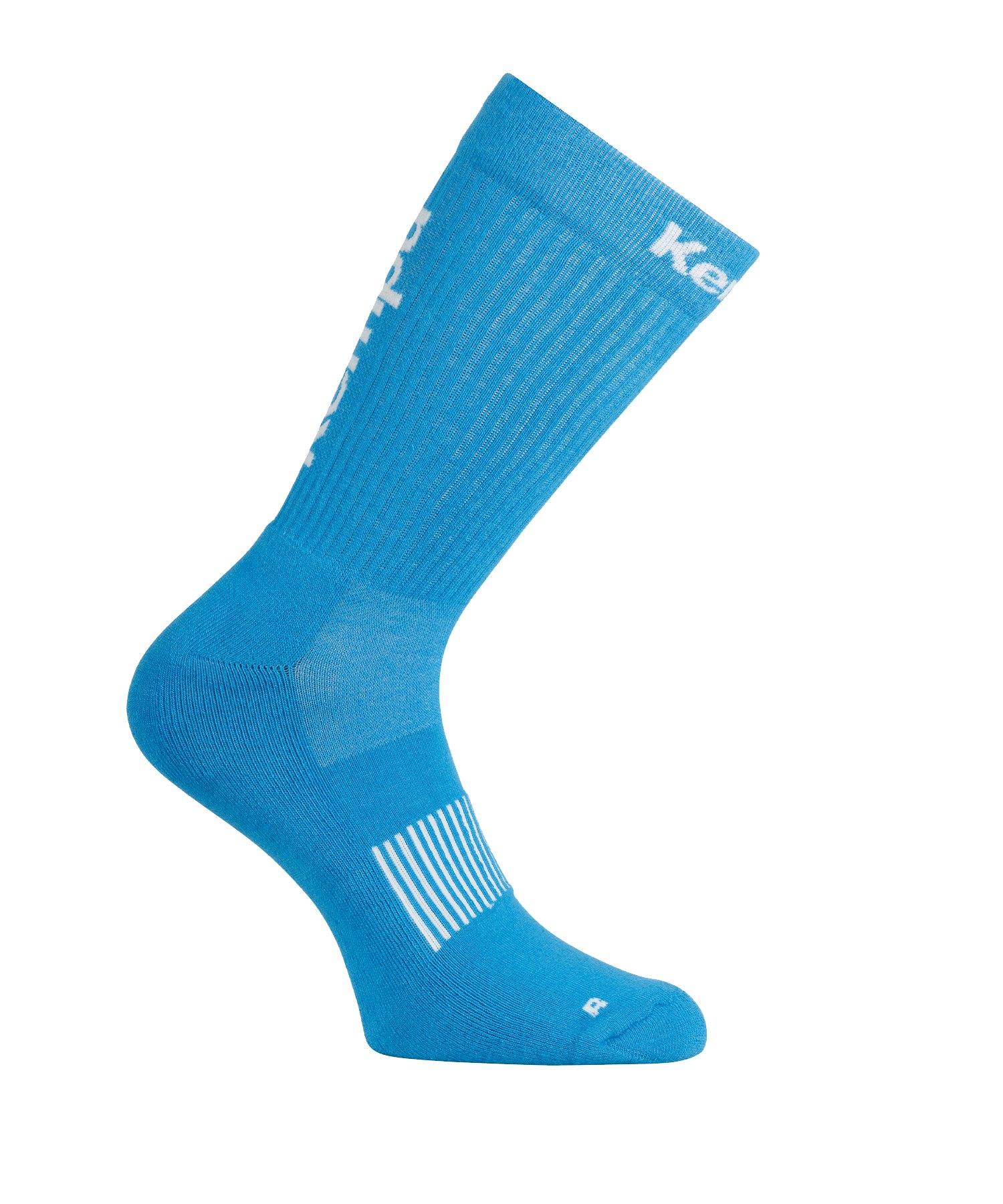 Kempa Logo Classic Socken Blau Weiss F08 - blau