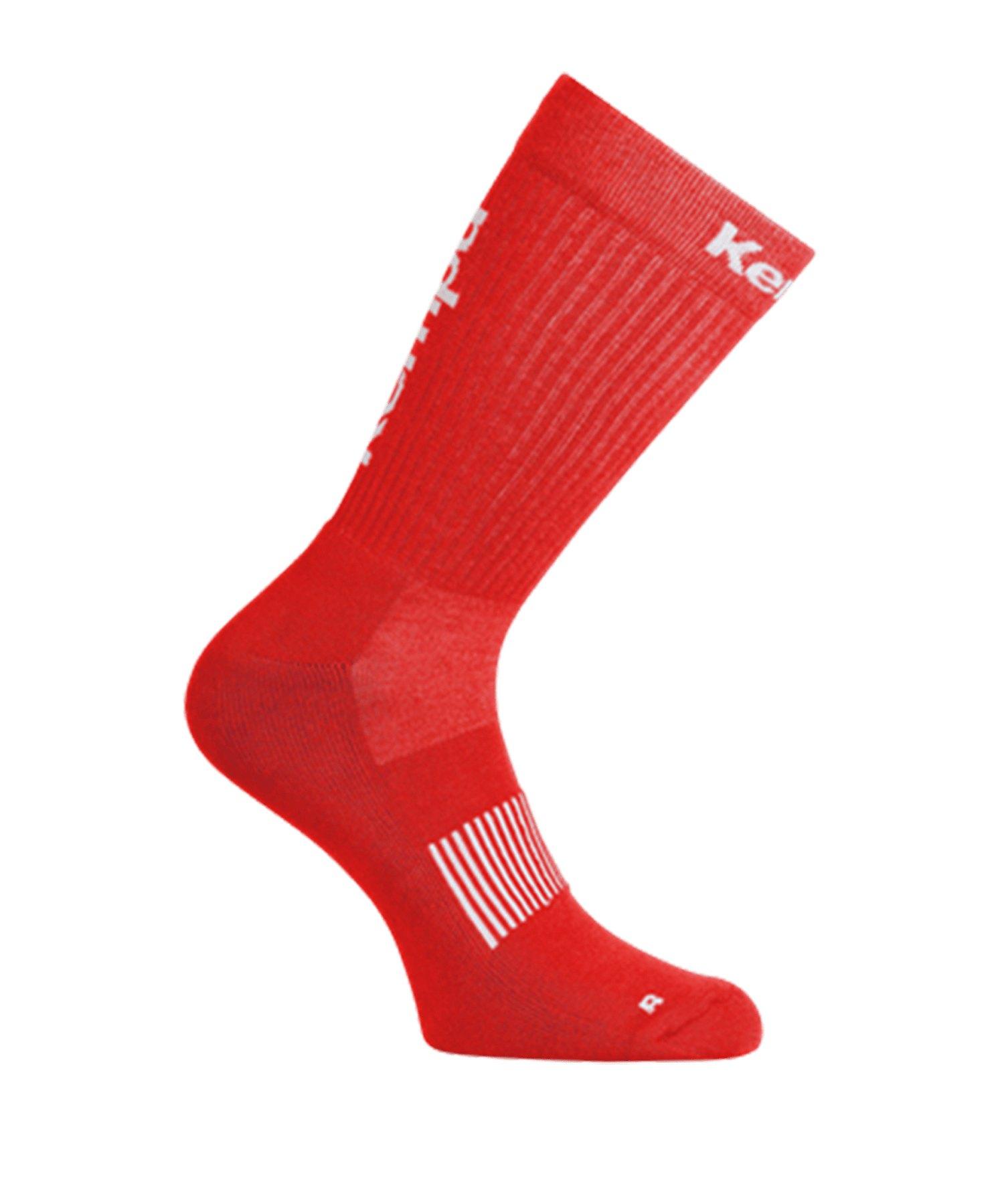 Kempa Logo Classic Socken Rot Weiss F23 - rot