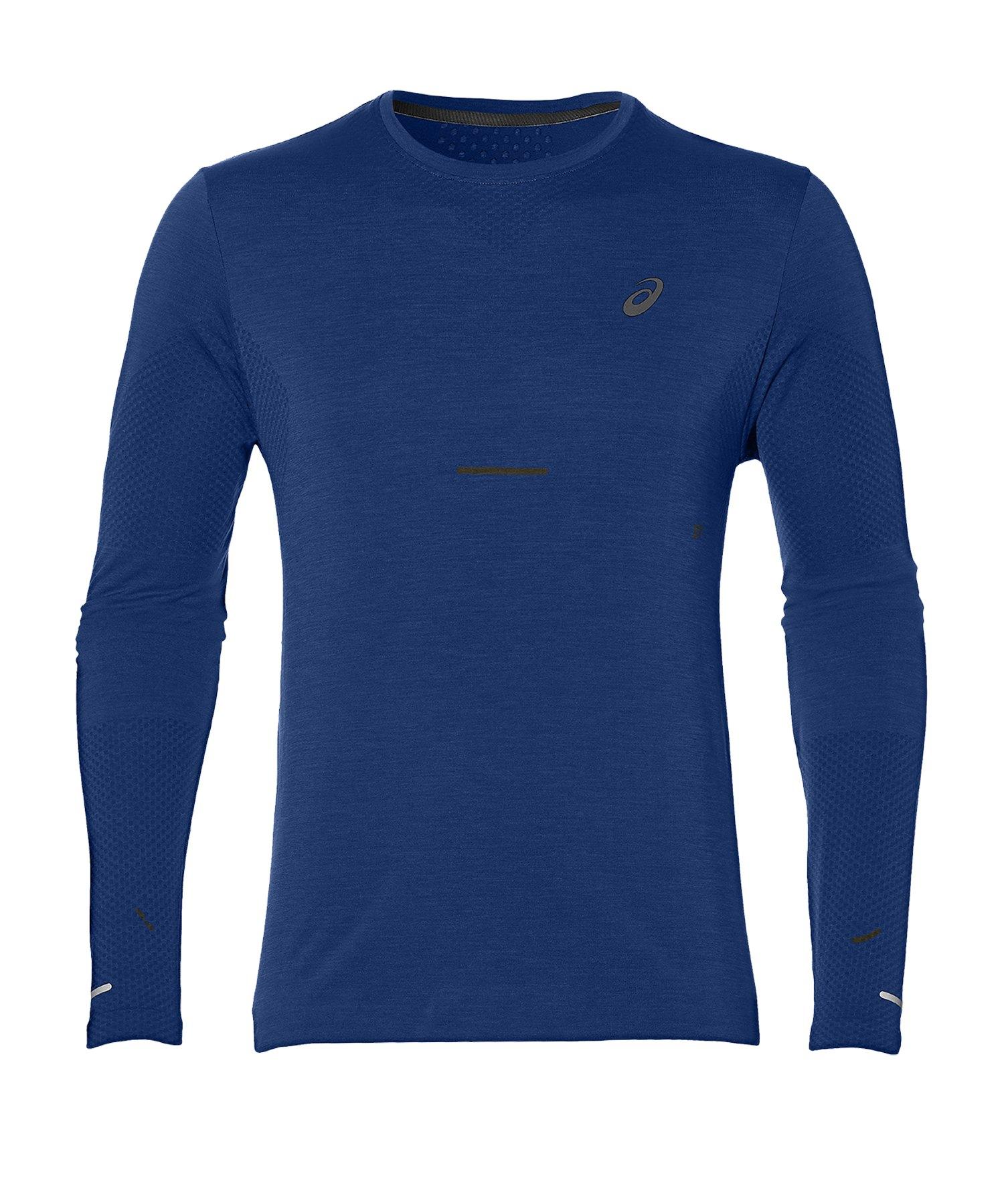 Asics Seamless LS Shirt Running Blau F404 - blau