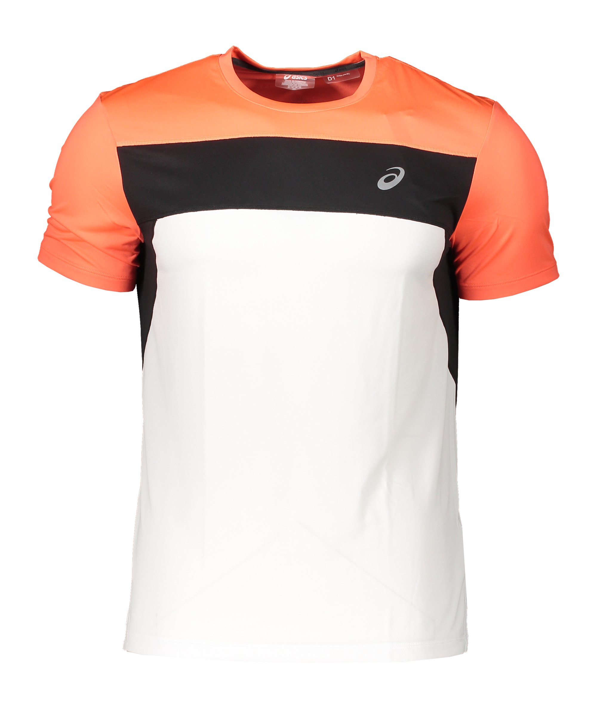 Asics Race SS Running T-Shirt Weiss Orange F103 - weiss