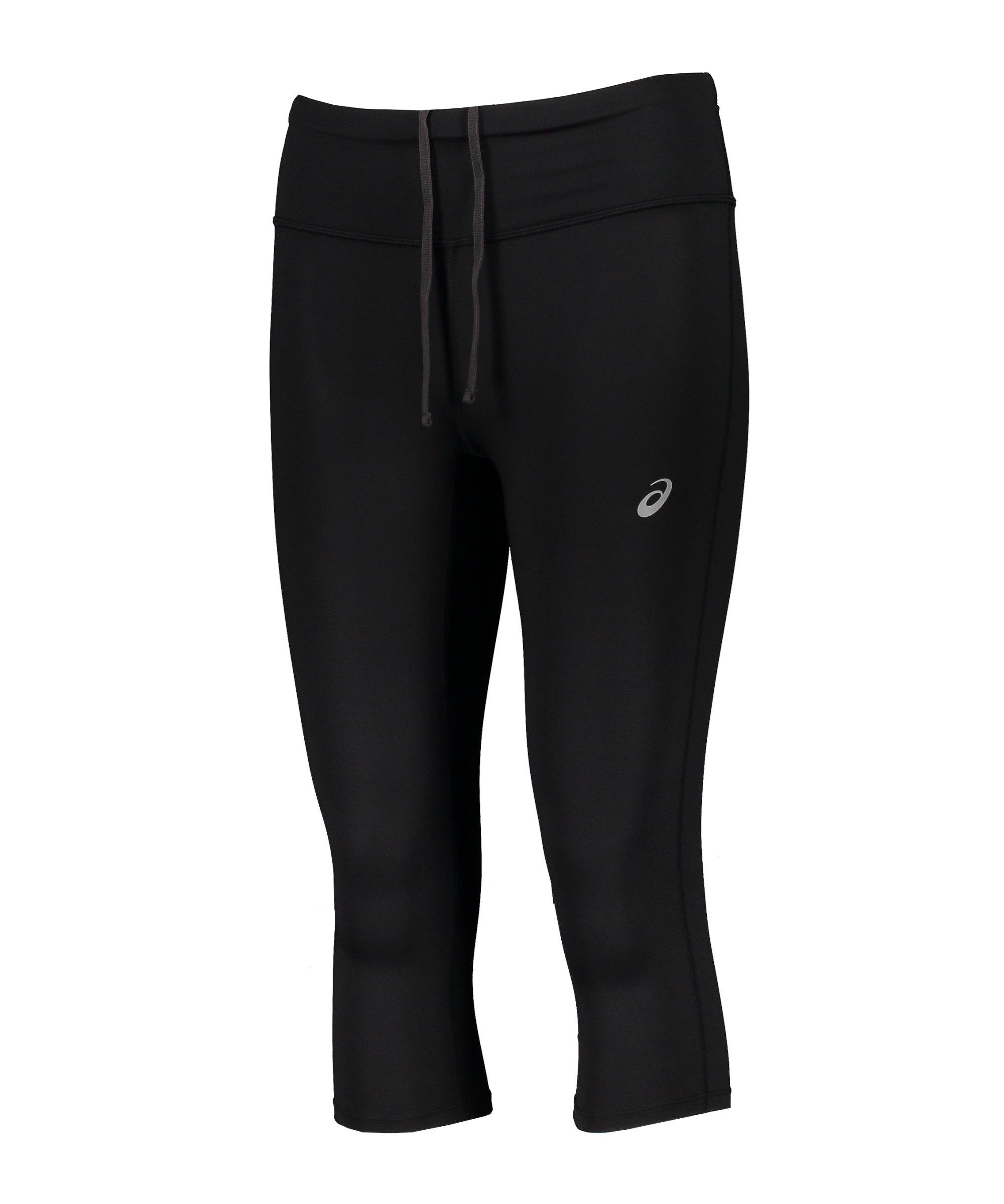 Asics Core Capri Leggings Running Damen F001 - schwarz