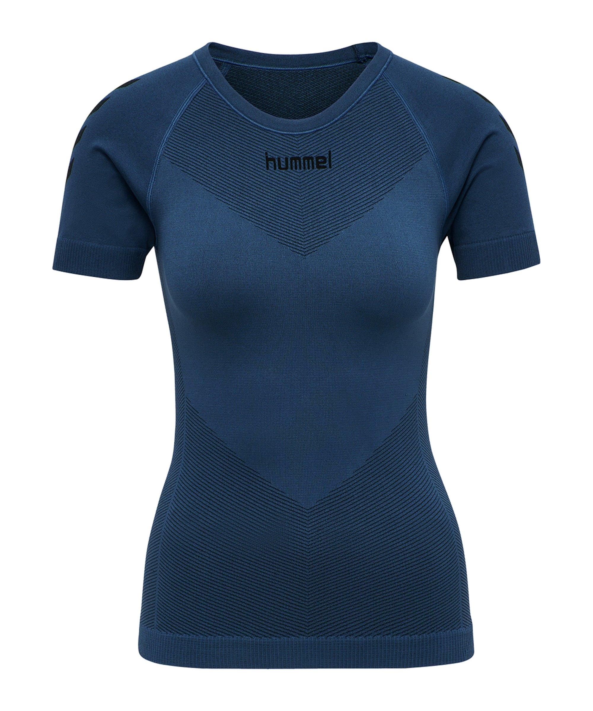 Hummel First Seamless T-Shirt Damen Blau F7642 - blau