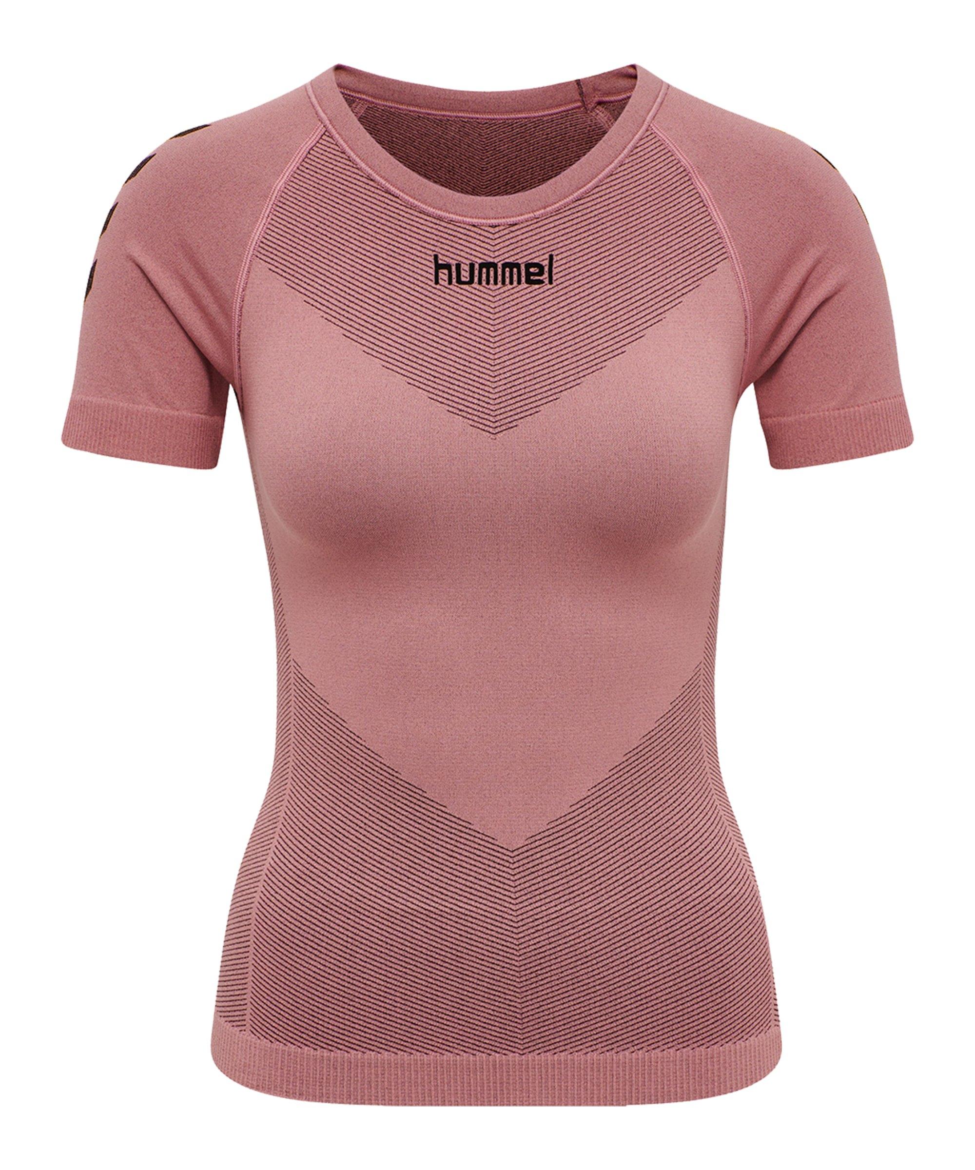 Hummel First Seamless T-Shirt Damen Rosa F4337 - rosa