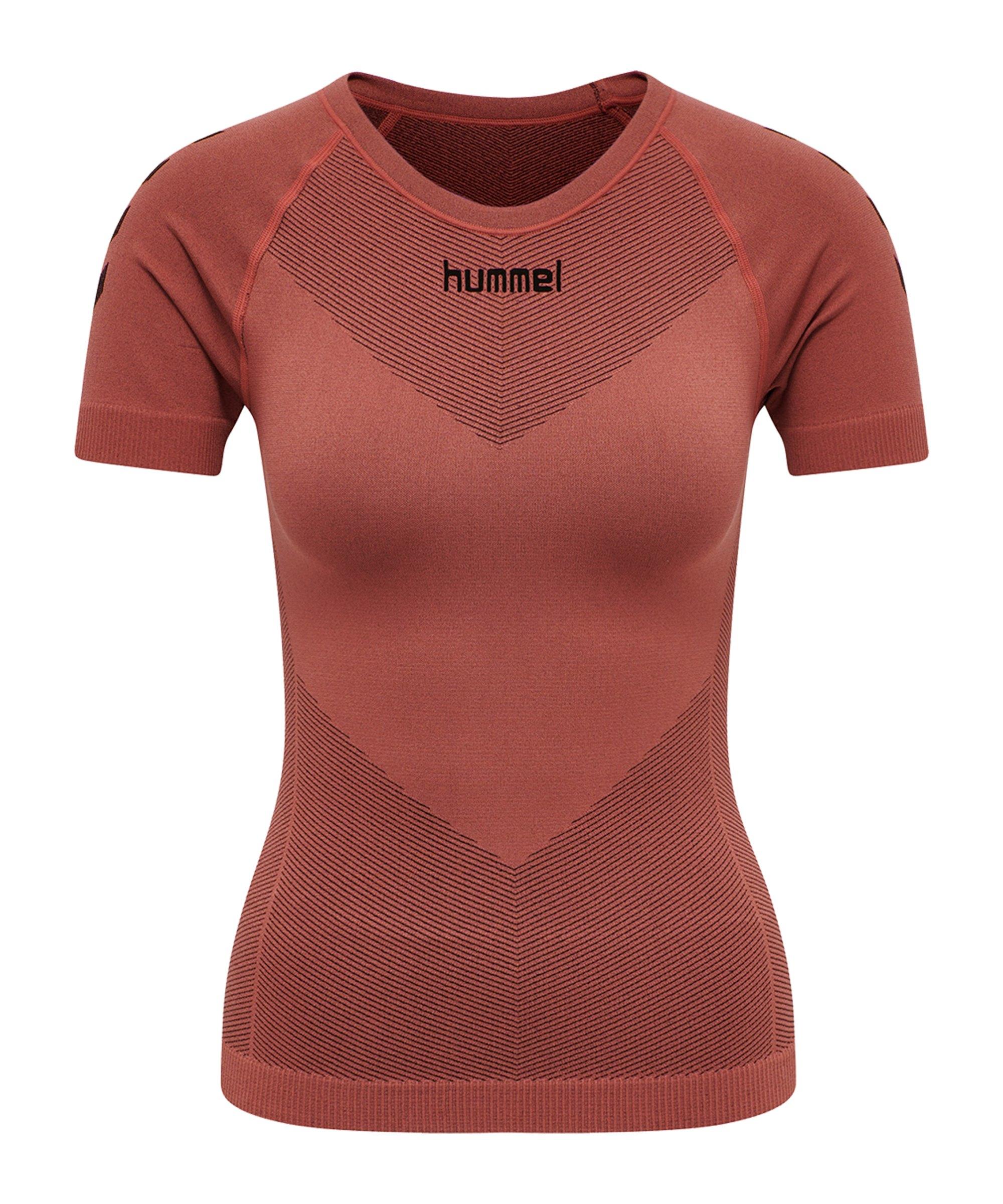 Hummel First Seamless T-Shirt Damen Rot F3250 - rot