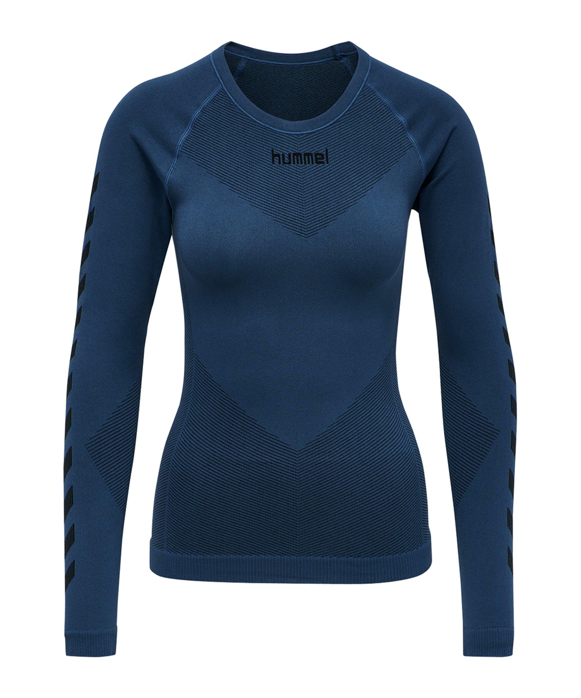 Hummel First Seamless Longsleeve Damen Blau F7642 - blau