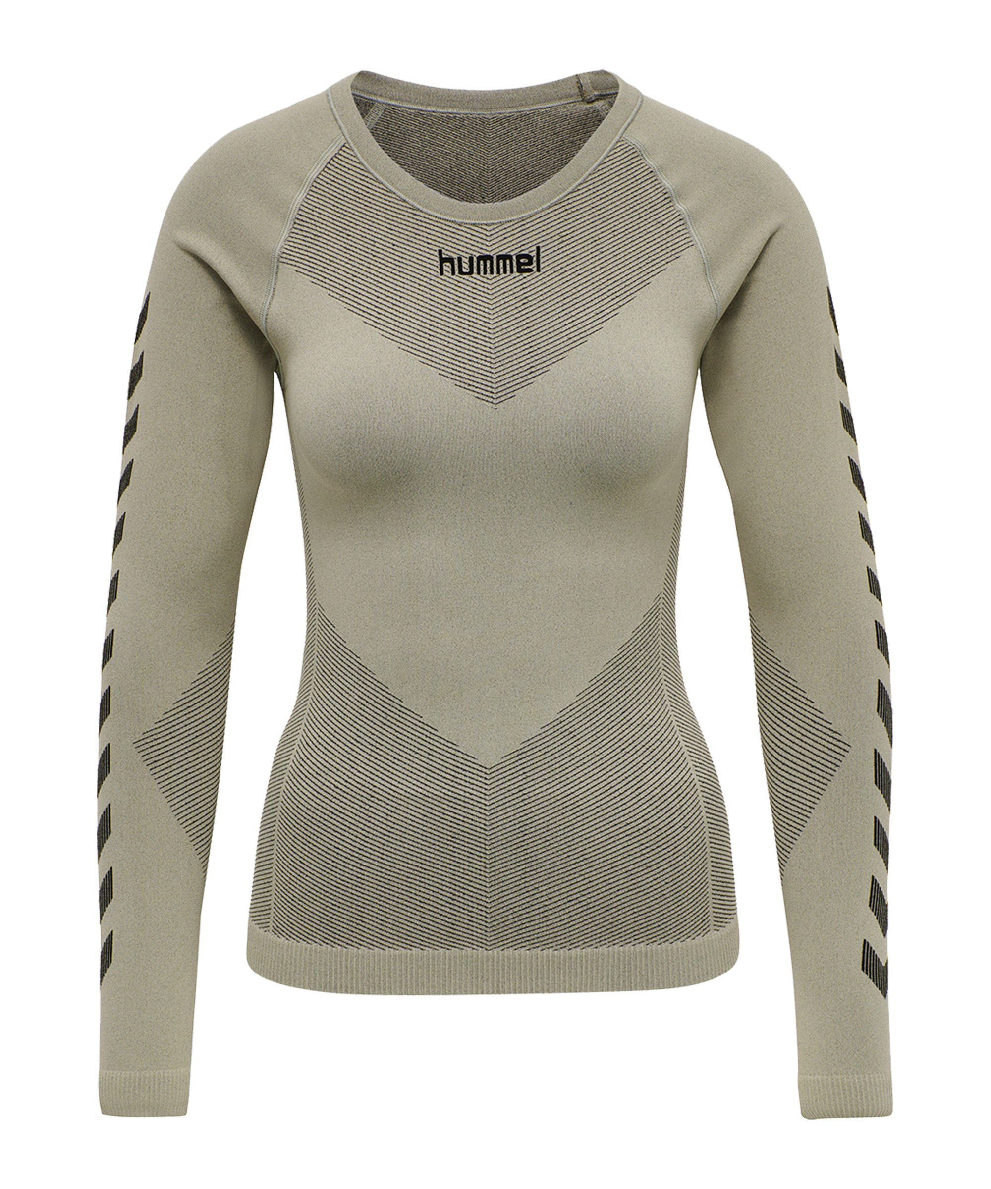 Hummel First Seamless Longsleeve Damen Grün F2931 - gruen