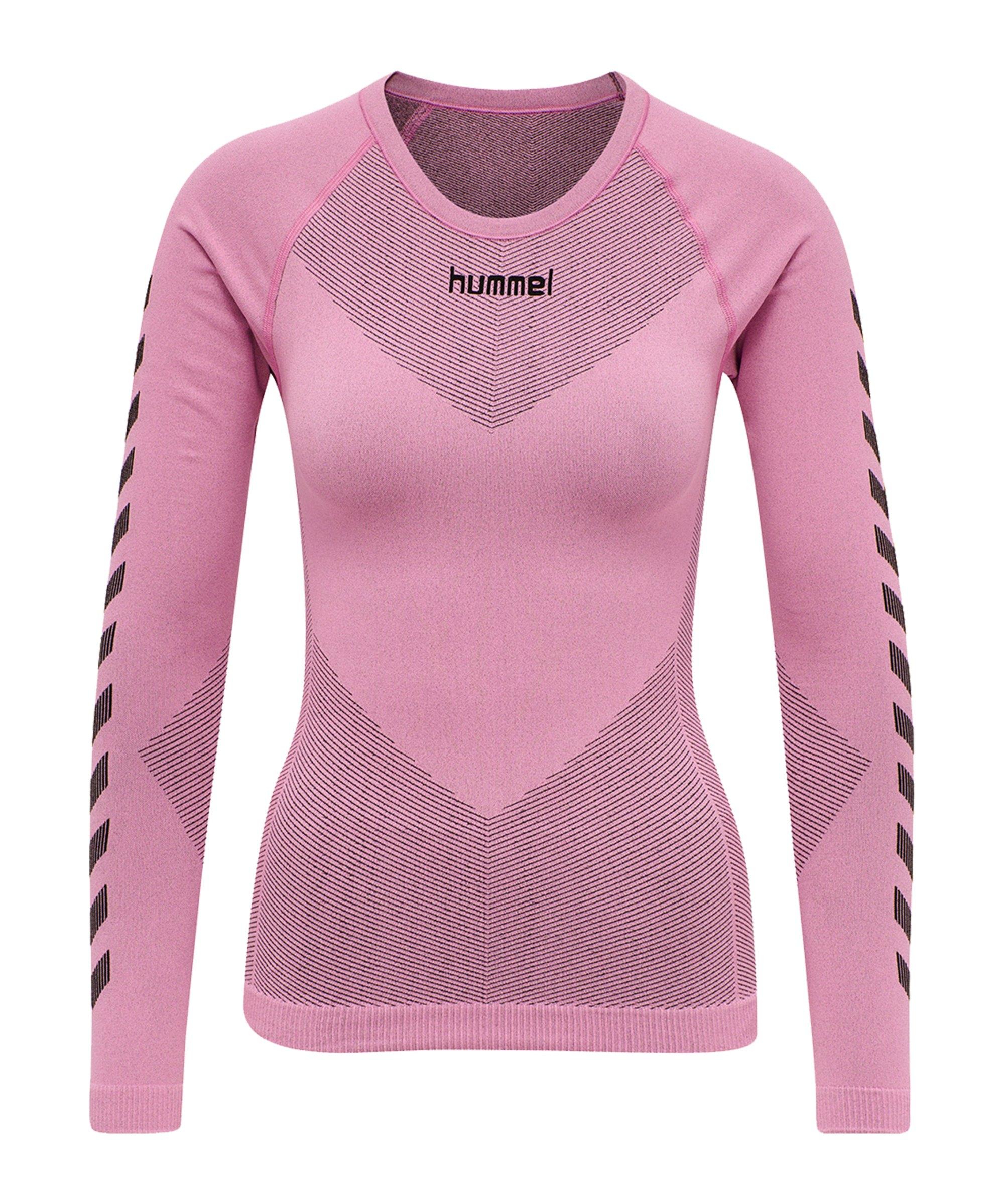Hummel First Seamless Longsleeve Damen Pink F3257 - pink