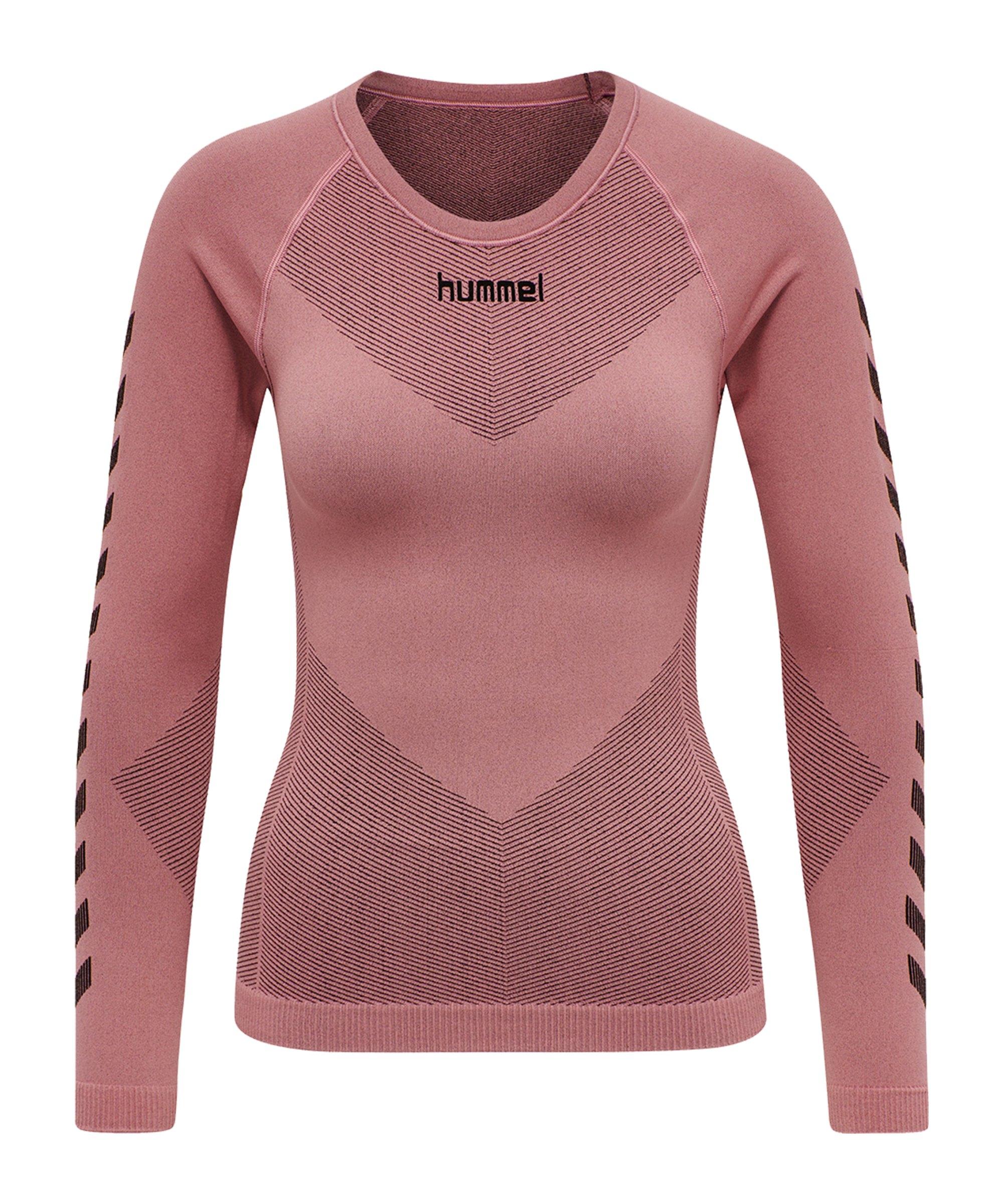 Hummel First Seamless Longsleeve Damen Rosa F4337 - rosa