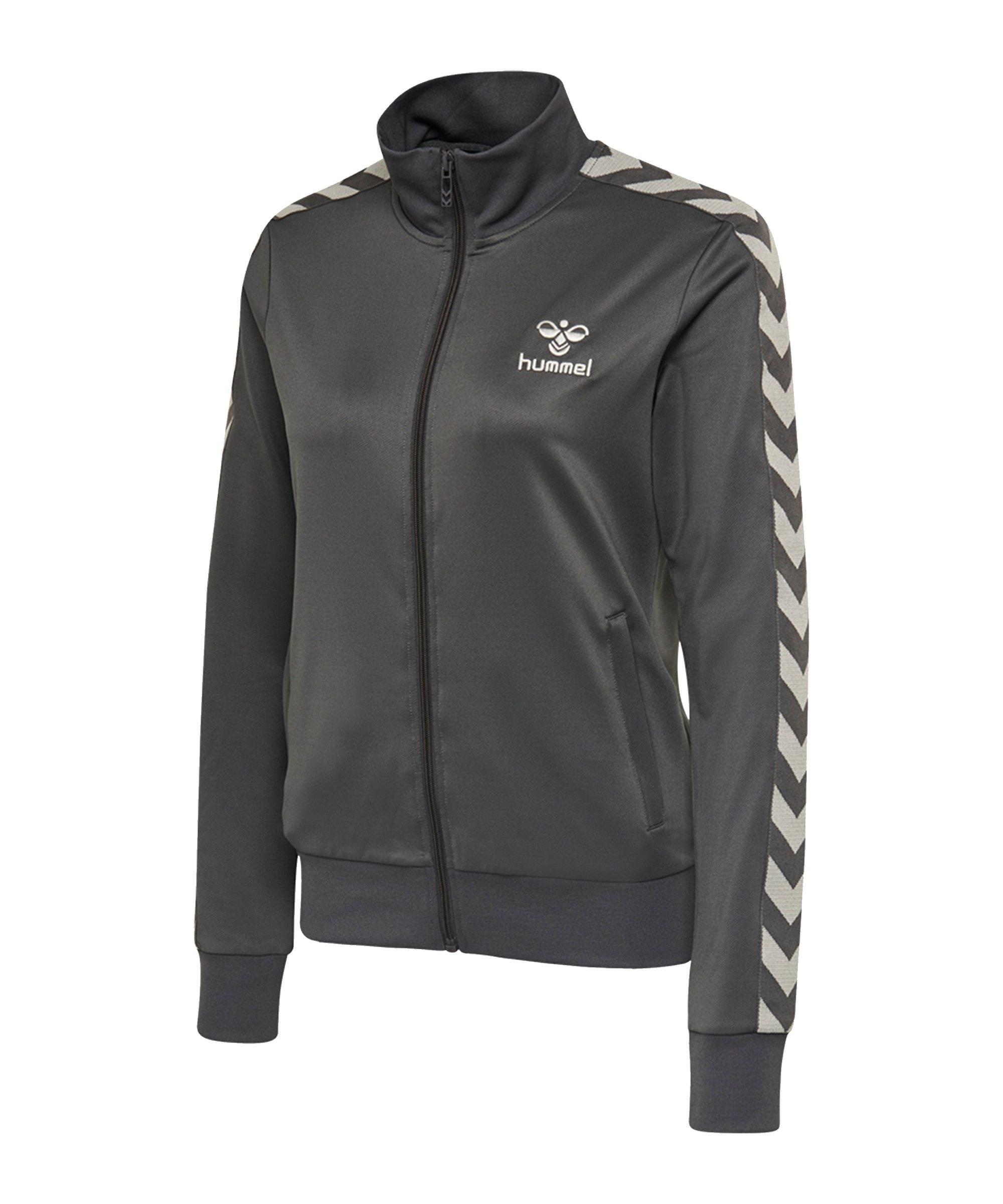 Hummel Nelly Zip Trainingsjacke Damen Grau F1025 - grau