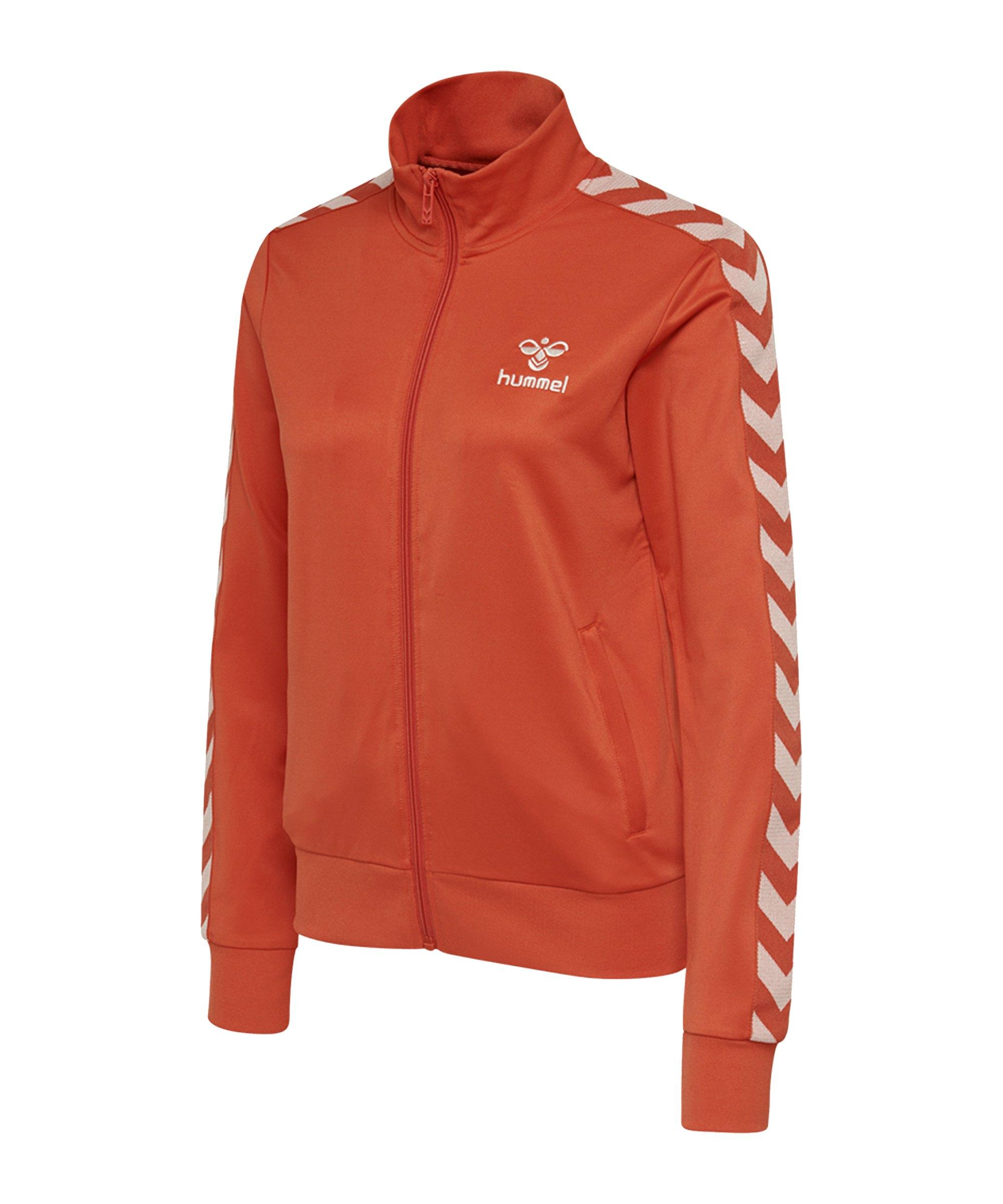 Hummel Nelly Zip Trainingsjacke Damen Orange F3781 - orange