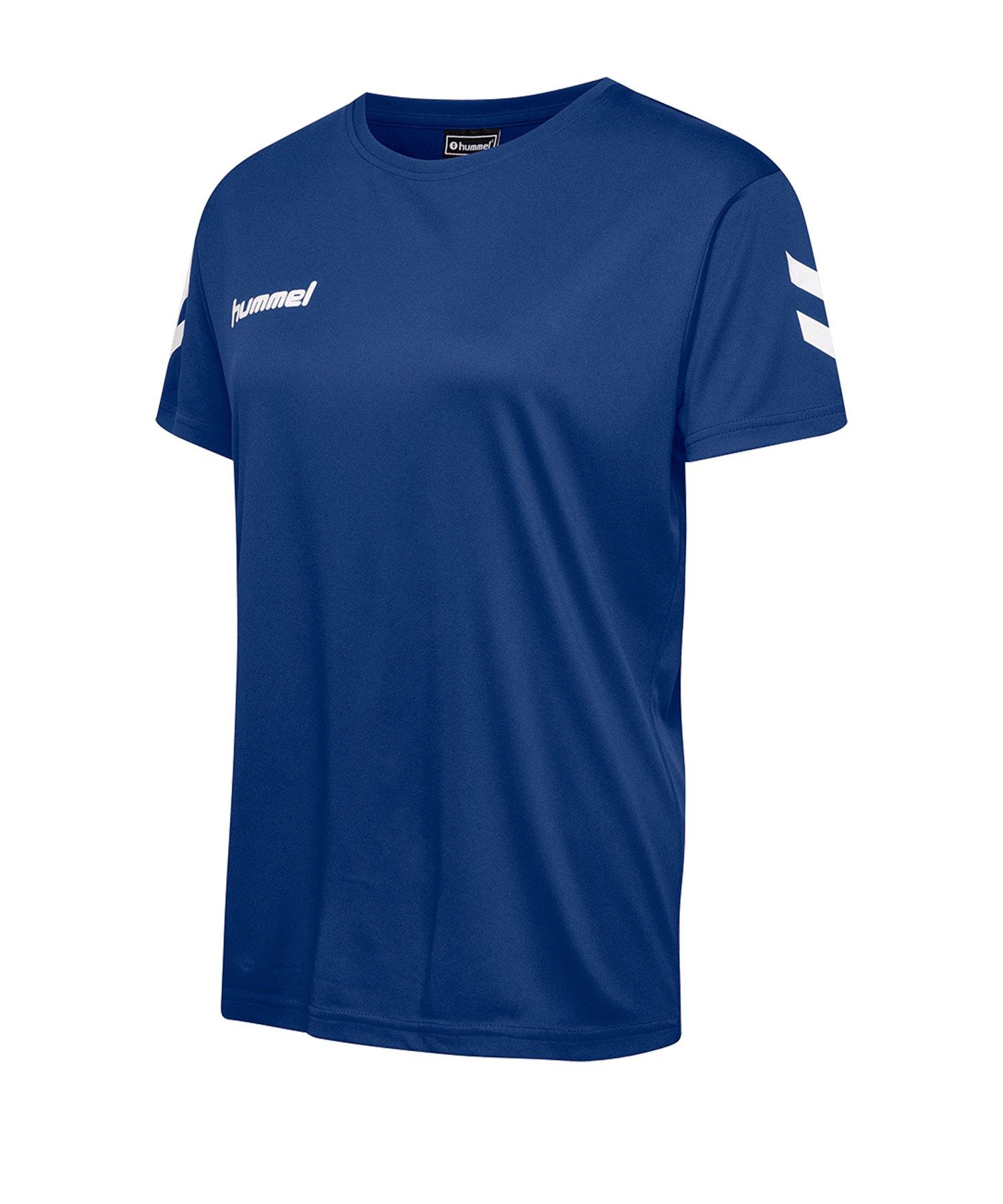 Hummel Core Poly Tee T-Shirt Damen F7045 - blau