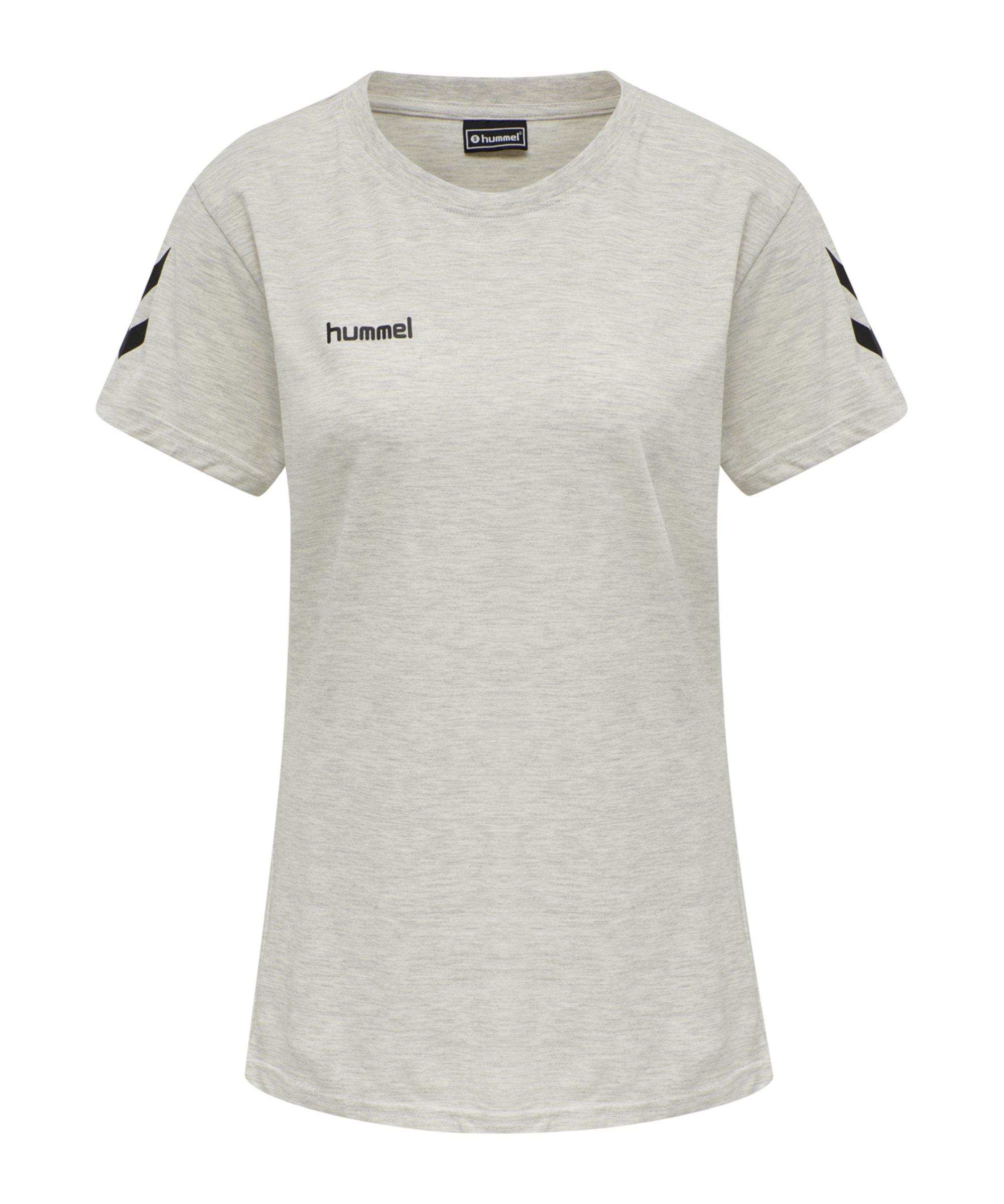 Hummel Cotton T-Shirt Damen Beige F9158 - beige