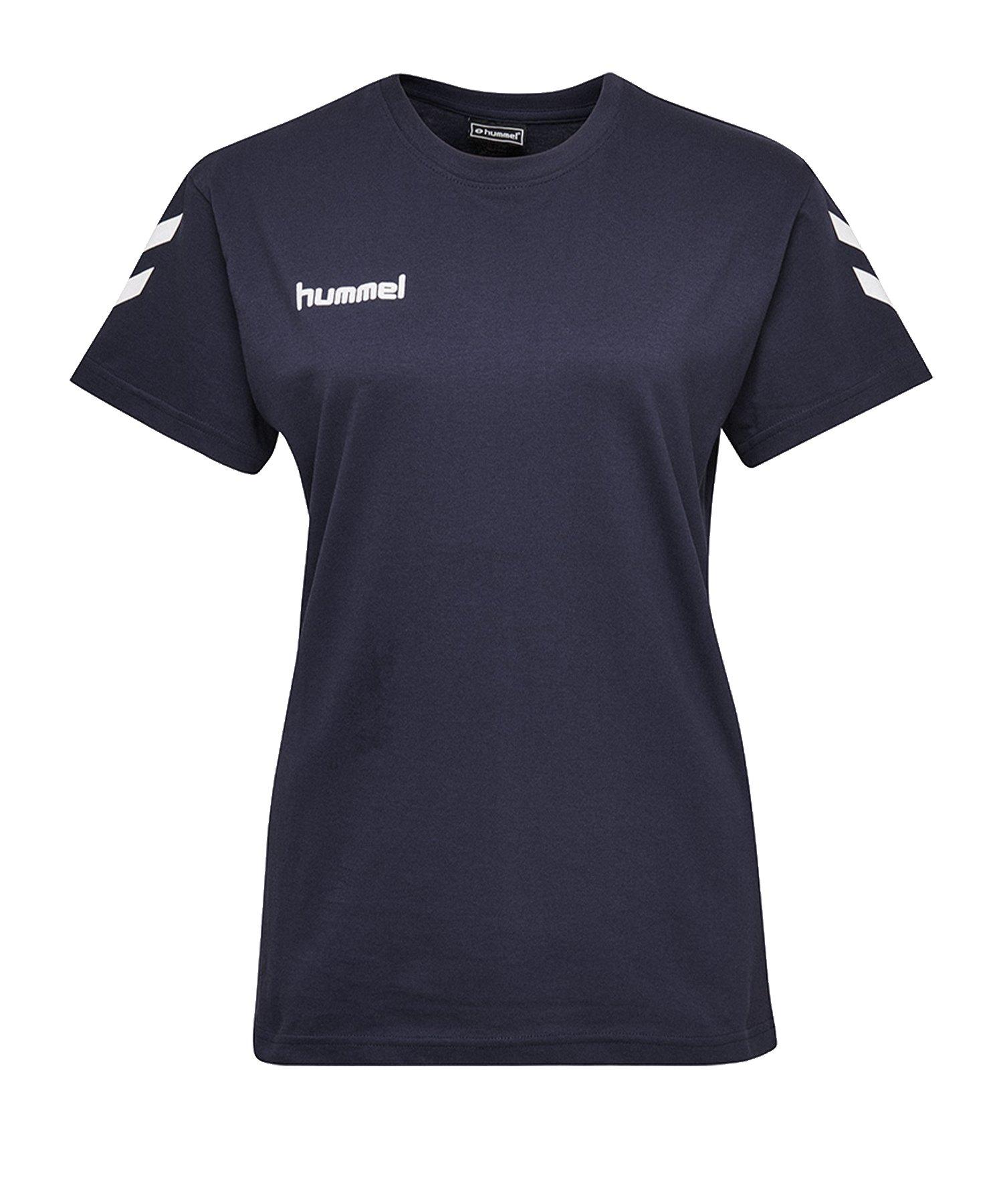 Hummel Cotton T-Shirt Damen Blau F7026 - Blau