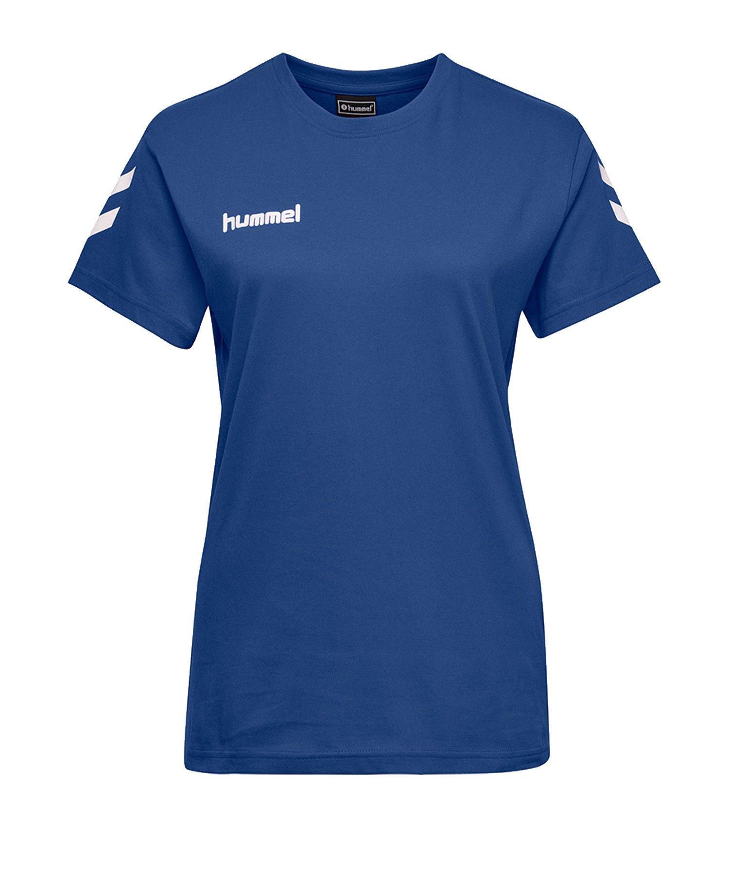 Hummel Cotton T-Shirt Damen Blau F7045 - Blau