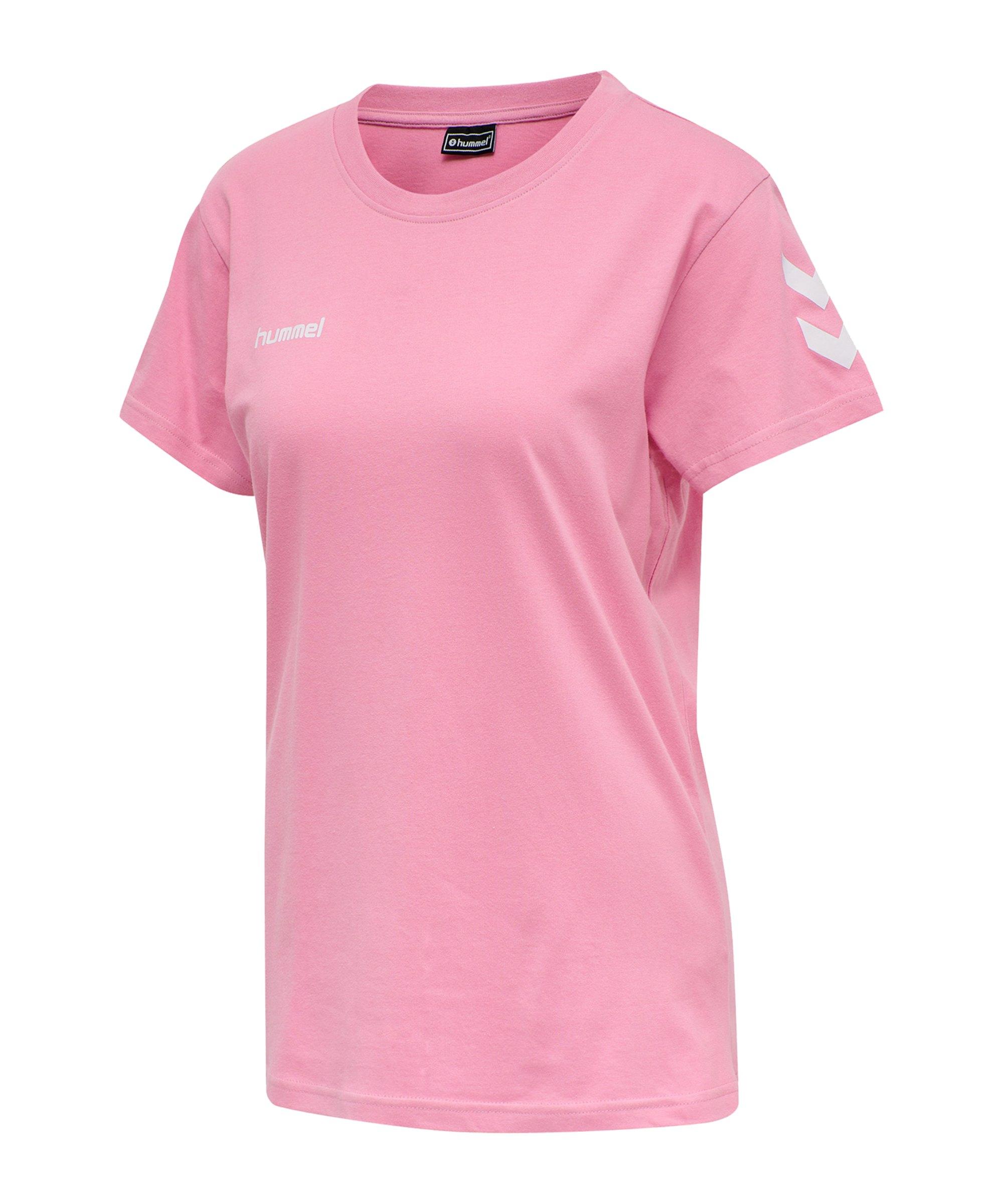 Hummel Cotton T-Shirt Damen Rosa F3257 - rosa