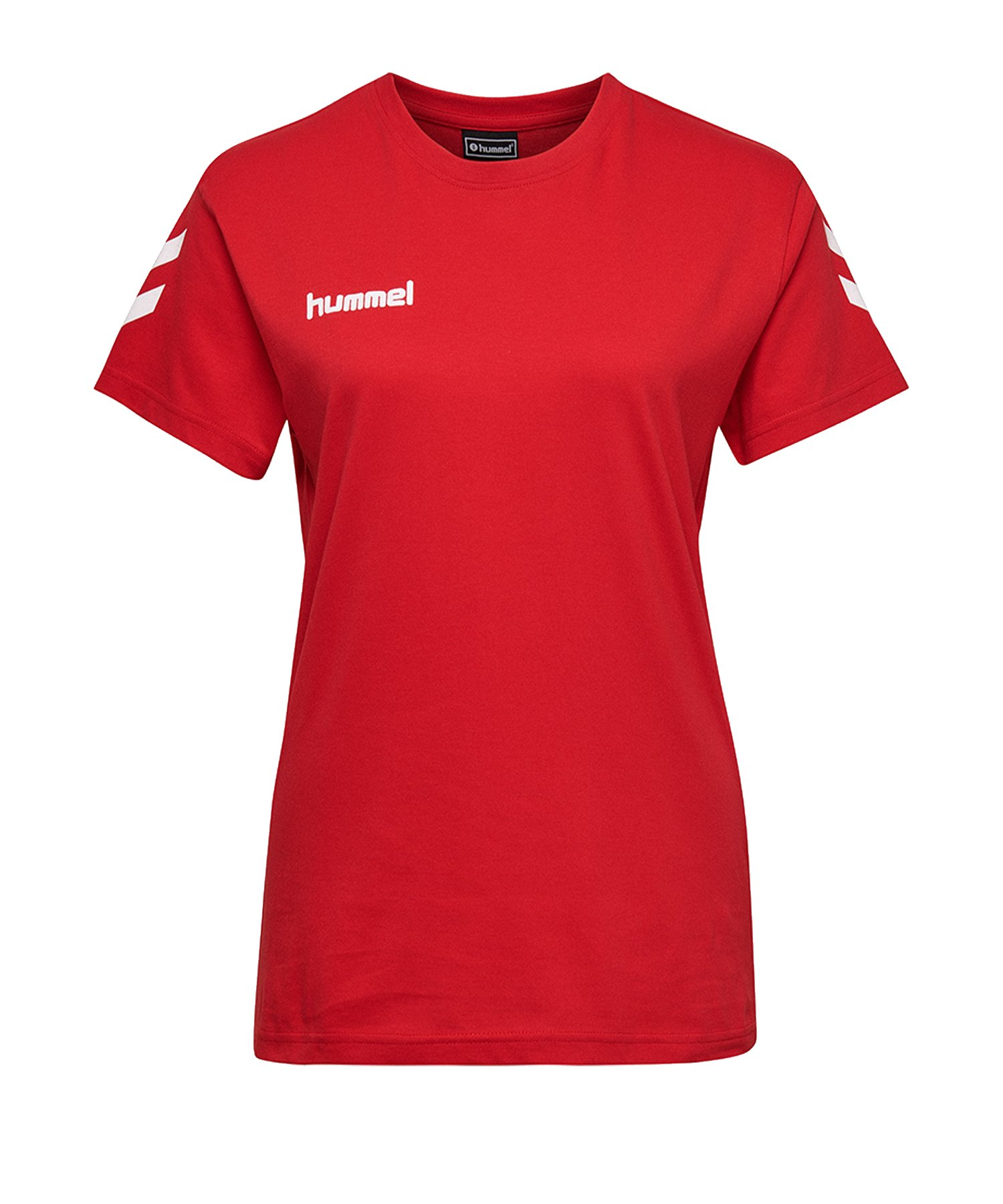 Hummel Cotton T-Shirt Damen Rot F3062 - Rot