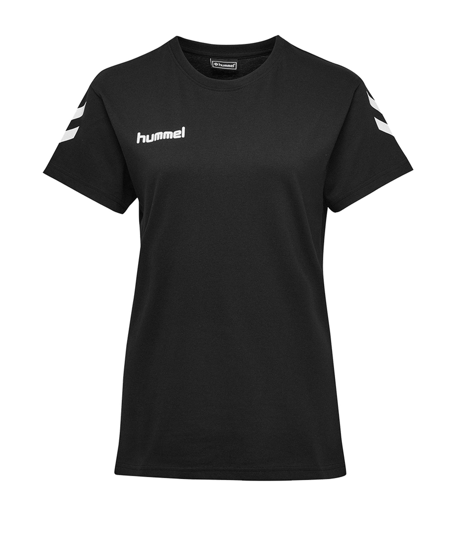 Hummel Cotton T-Shirt Damen Schwarz F2001 - Schwarz
