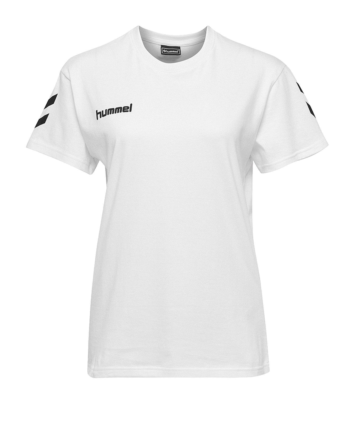 Hummel Cotton T-Shirt Damen Weiss F9001 - Weiss