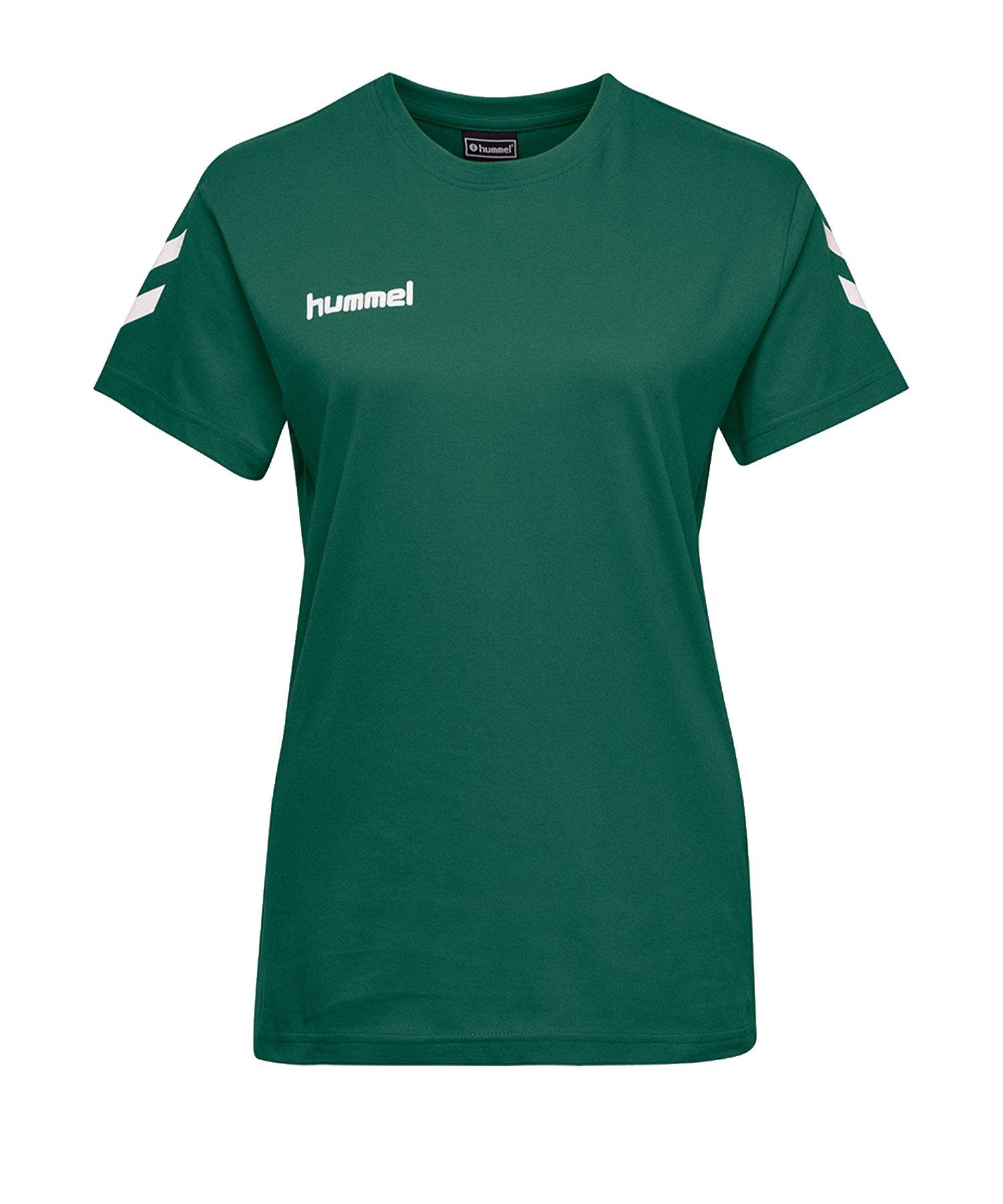 Hummel Cotton T-Shirt Grün Damen F6140 - Gruen
