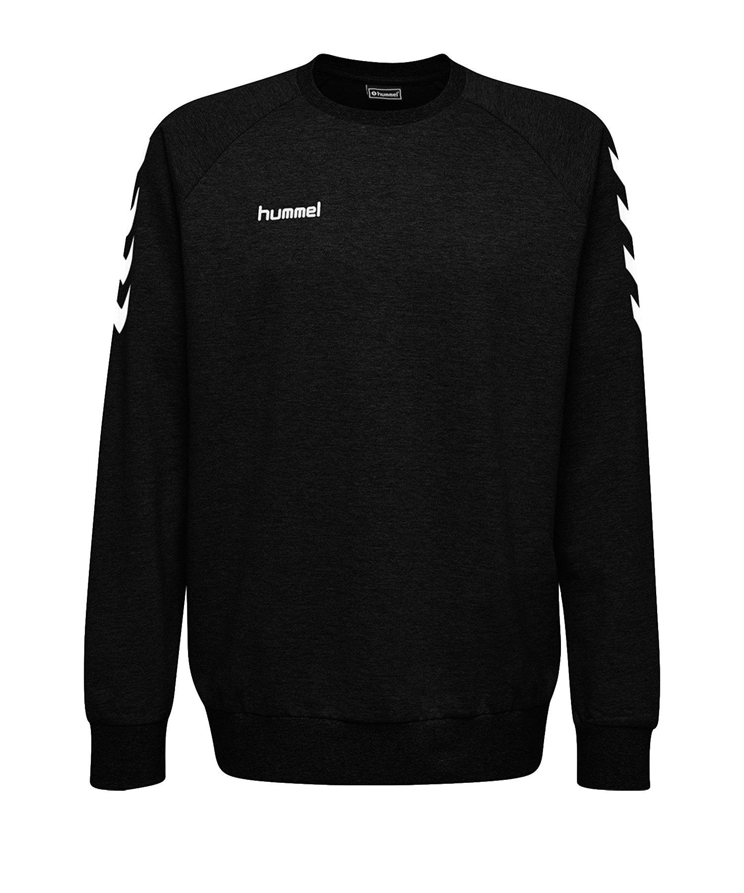 Hummel Cotton Sweatshirt Kids Schwarz F2001 - Schwarz
