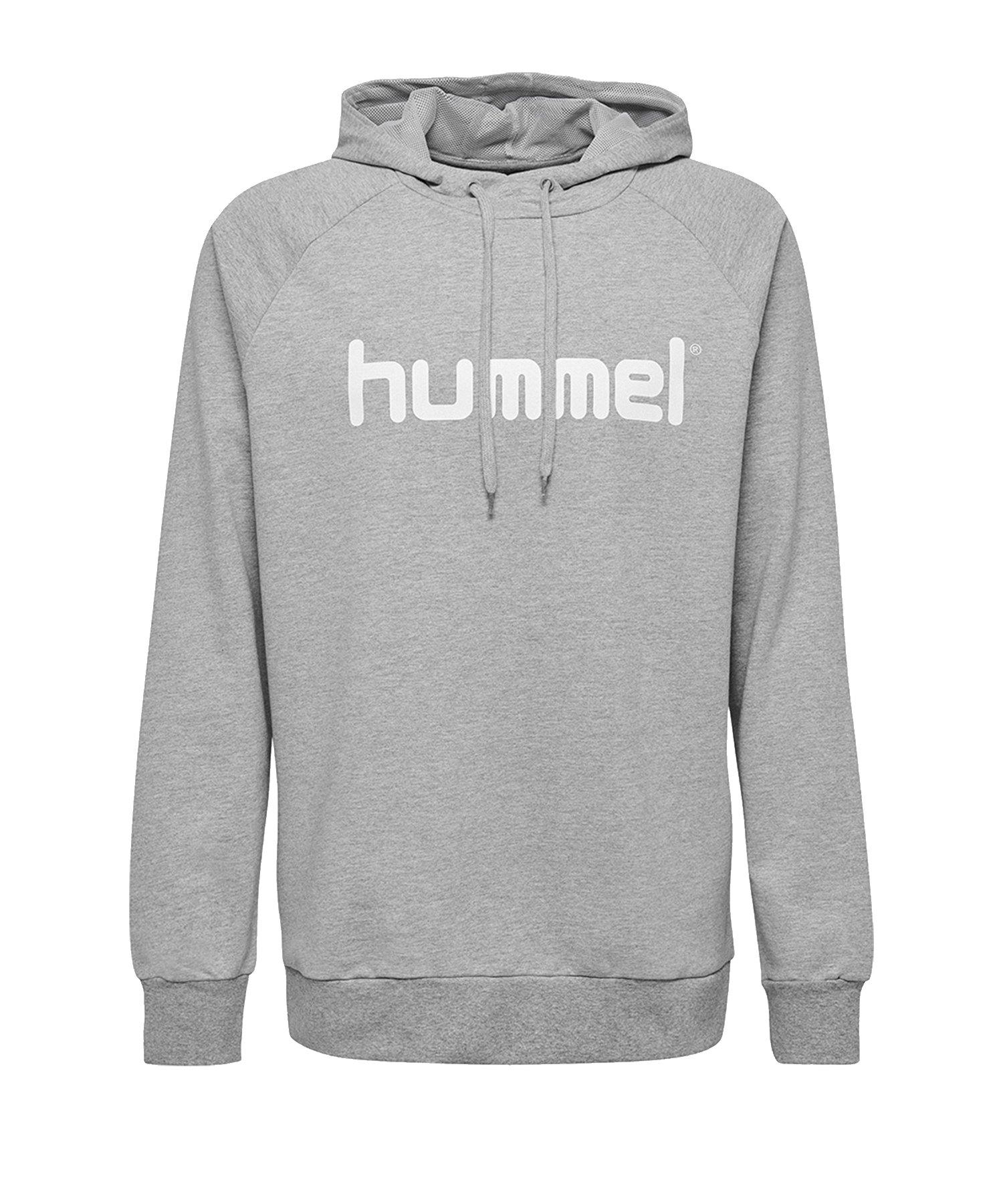 Hummel Cotton Logo Hoody Grau F2006 - Grau