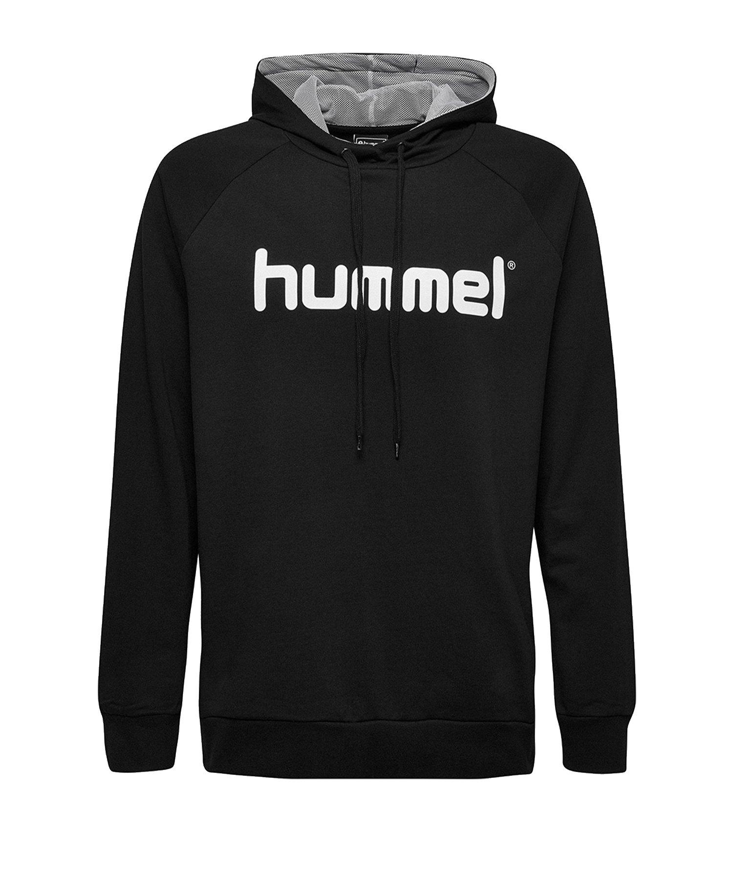 Hummel Cotton Logo Hoody Schwarz F2001 - Schwarz