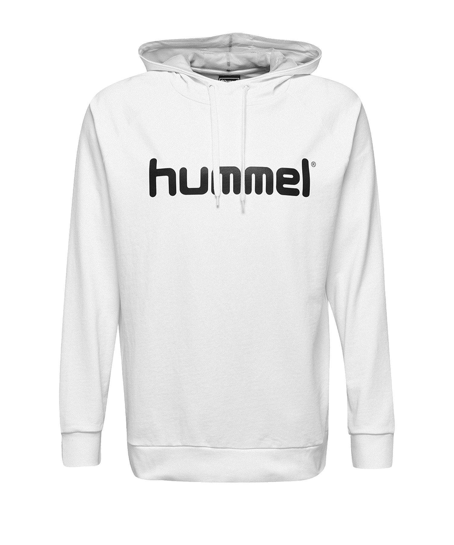 Hummel Cotton Logo Hoody Weiss F9001 - Weiss