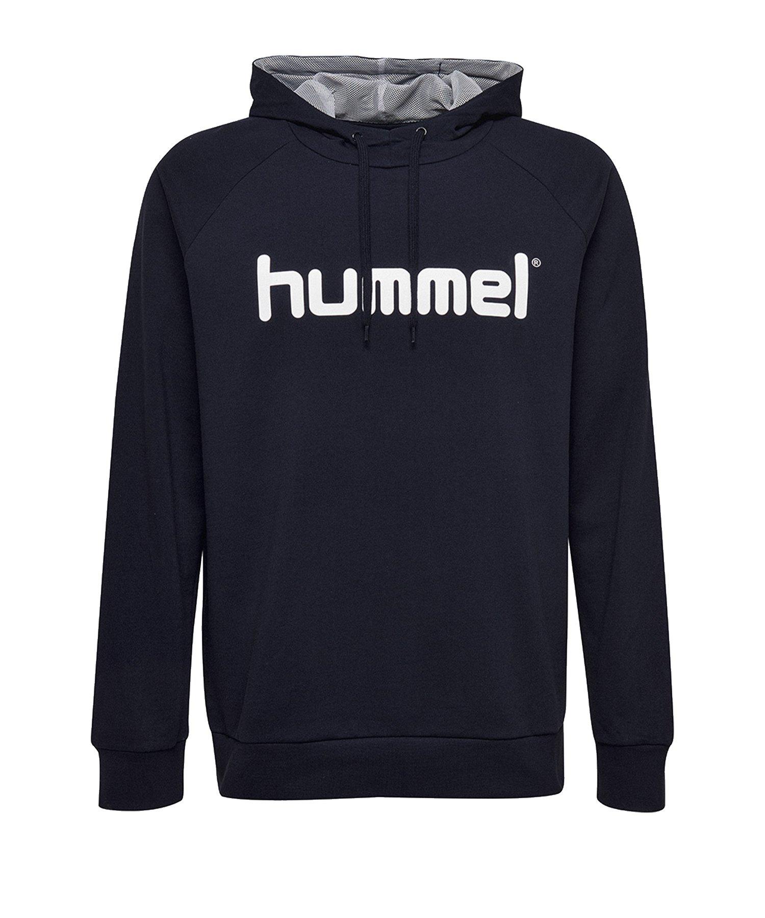 Hummel Cotton Logo Hoody Kids Blau F7026 - Blau