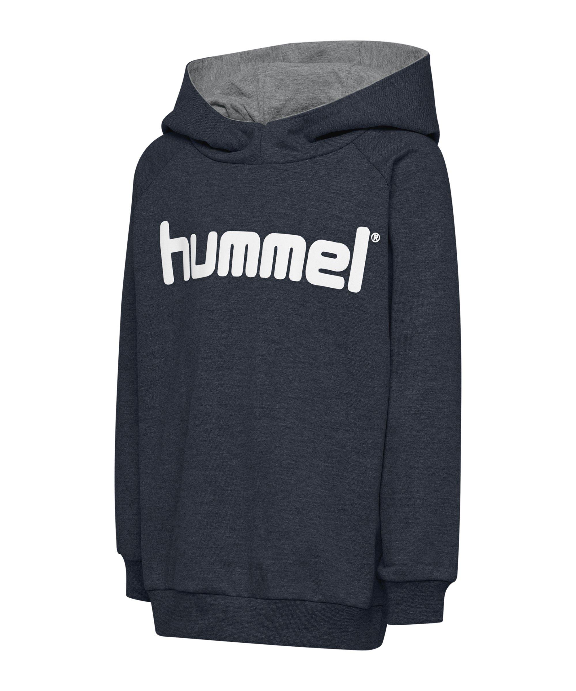 Hummel Cotton Logo Hoody Kids Grau F8571 - grau