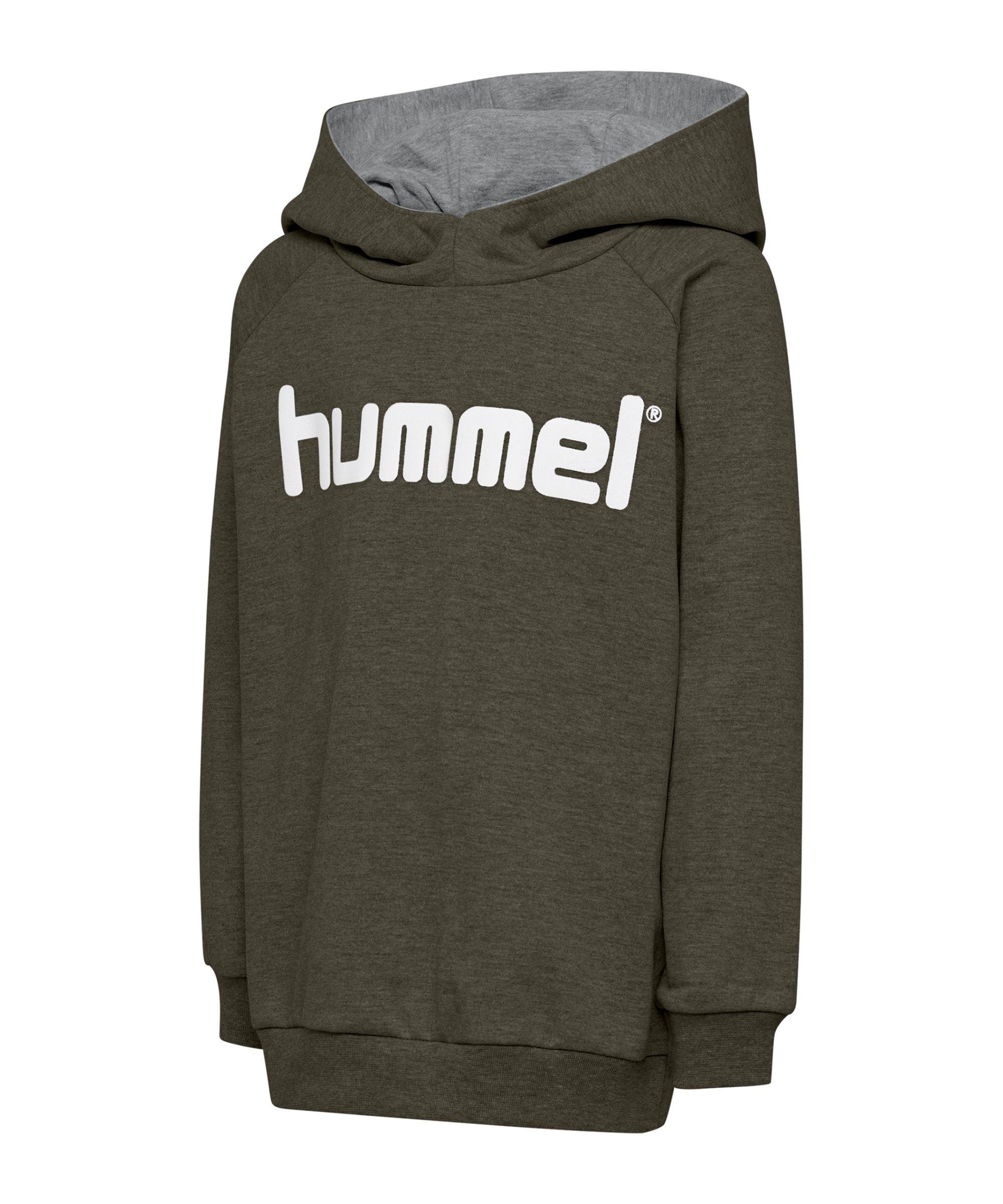 Hummel Cotton Logo Hoody Kids Grün F6084 - gruen