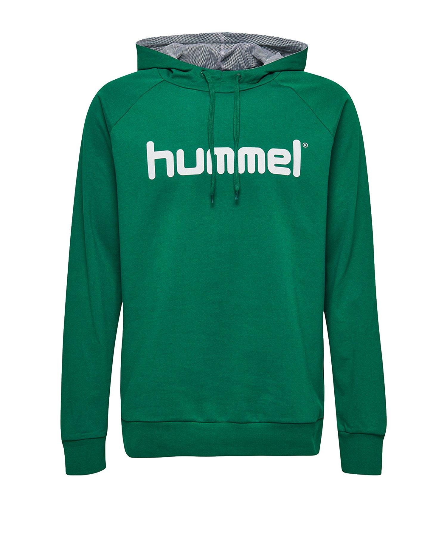 Hummel Cotton Logo Hoody Kids Grün F6140 - Gruen