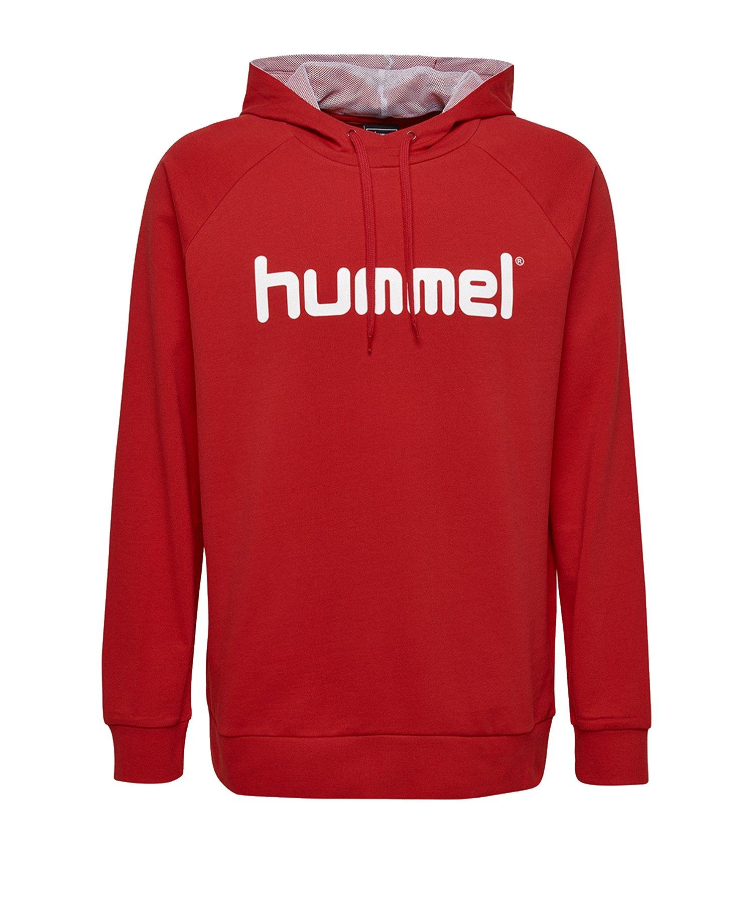 Hummel Cotton Logo Hoody Kids Rot F3062 - Rot